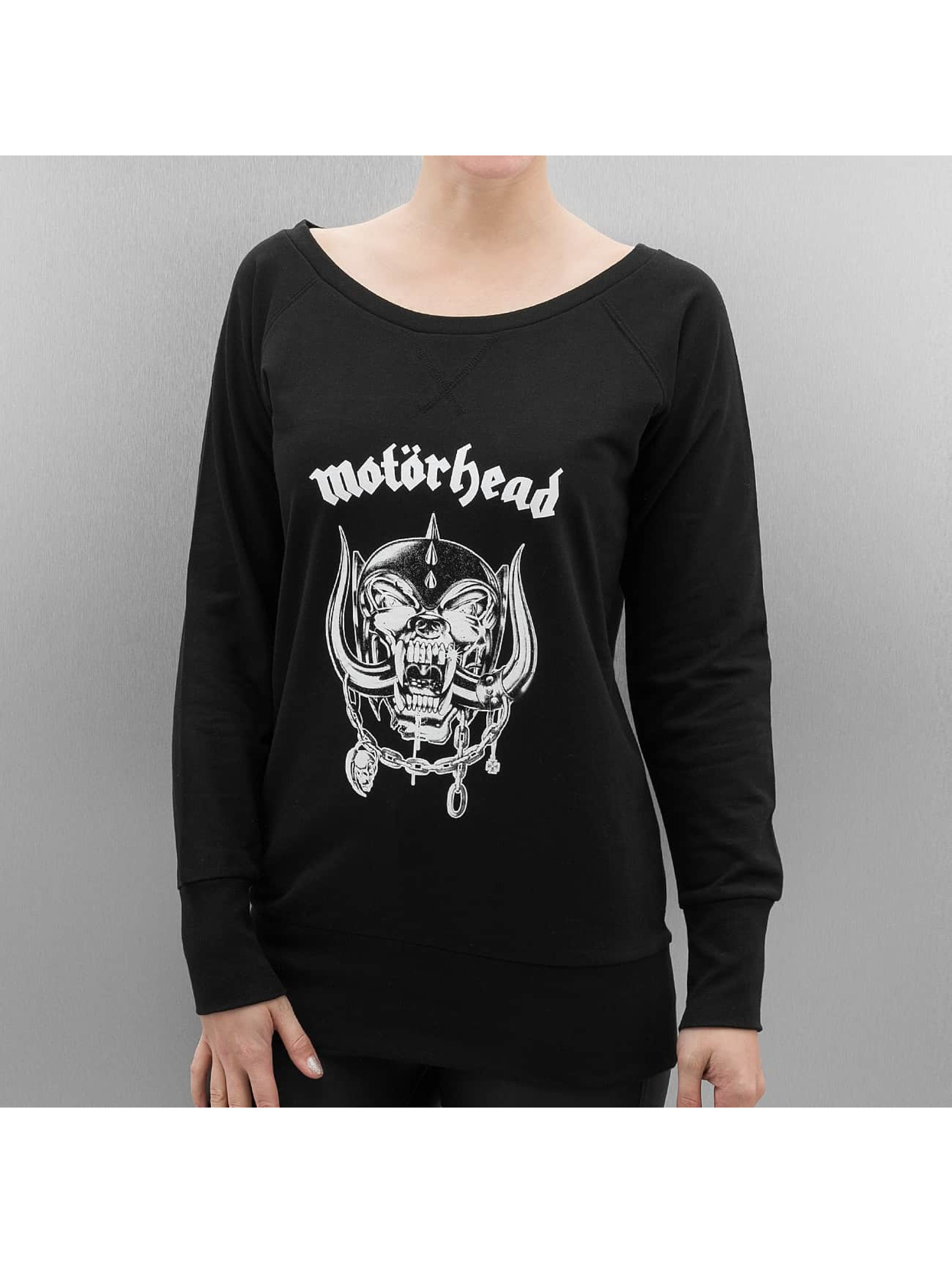 Merchcode Jumper Ladies Motörhead Everything Louder Wideneck black