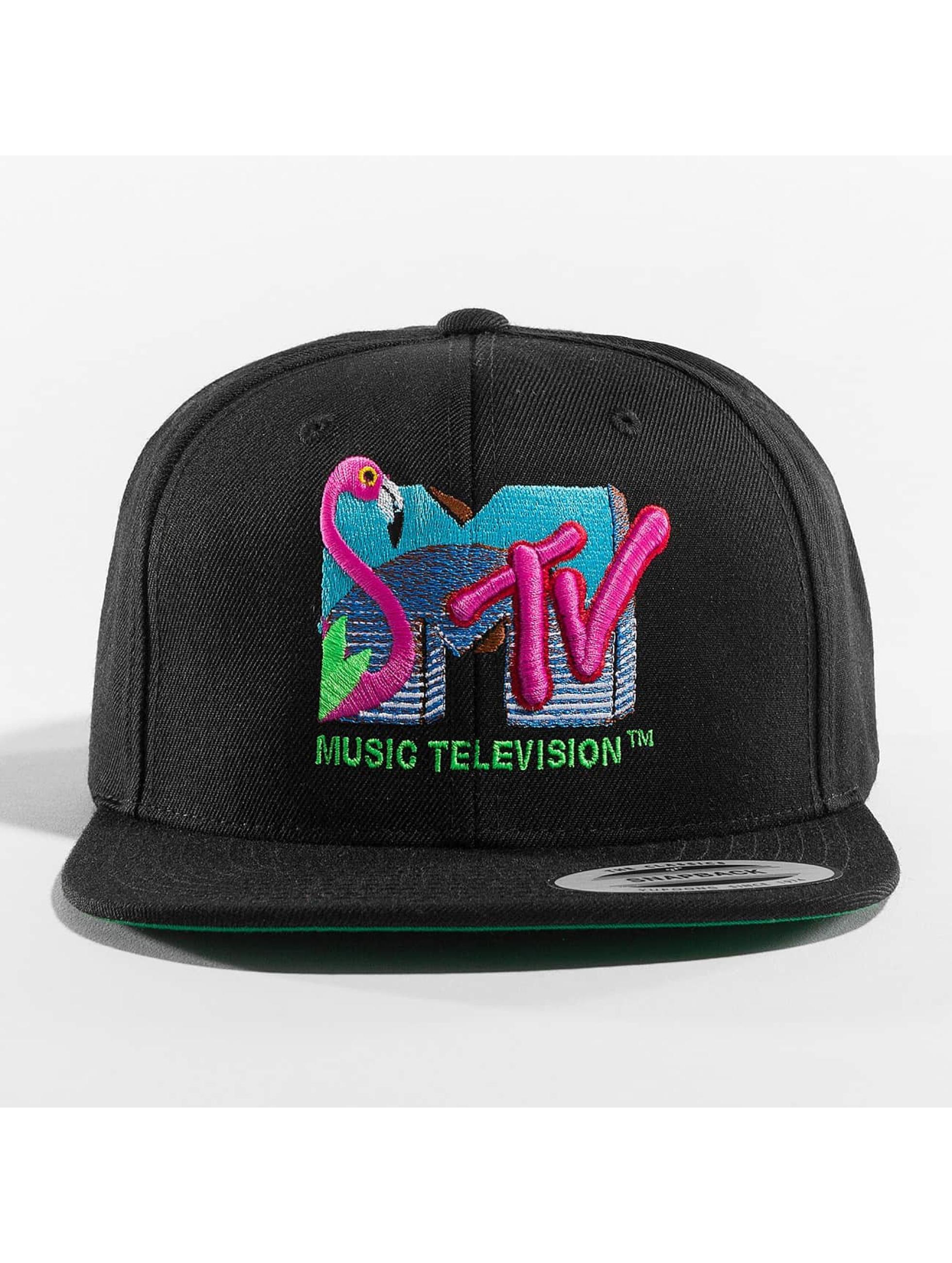 Merchcode Snapback Cap MTV Flamingo schwarz