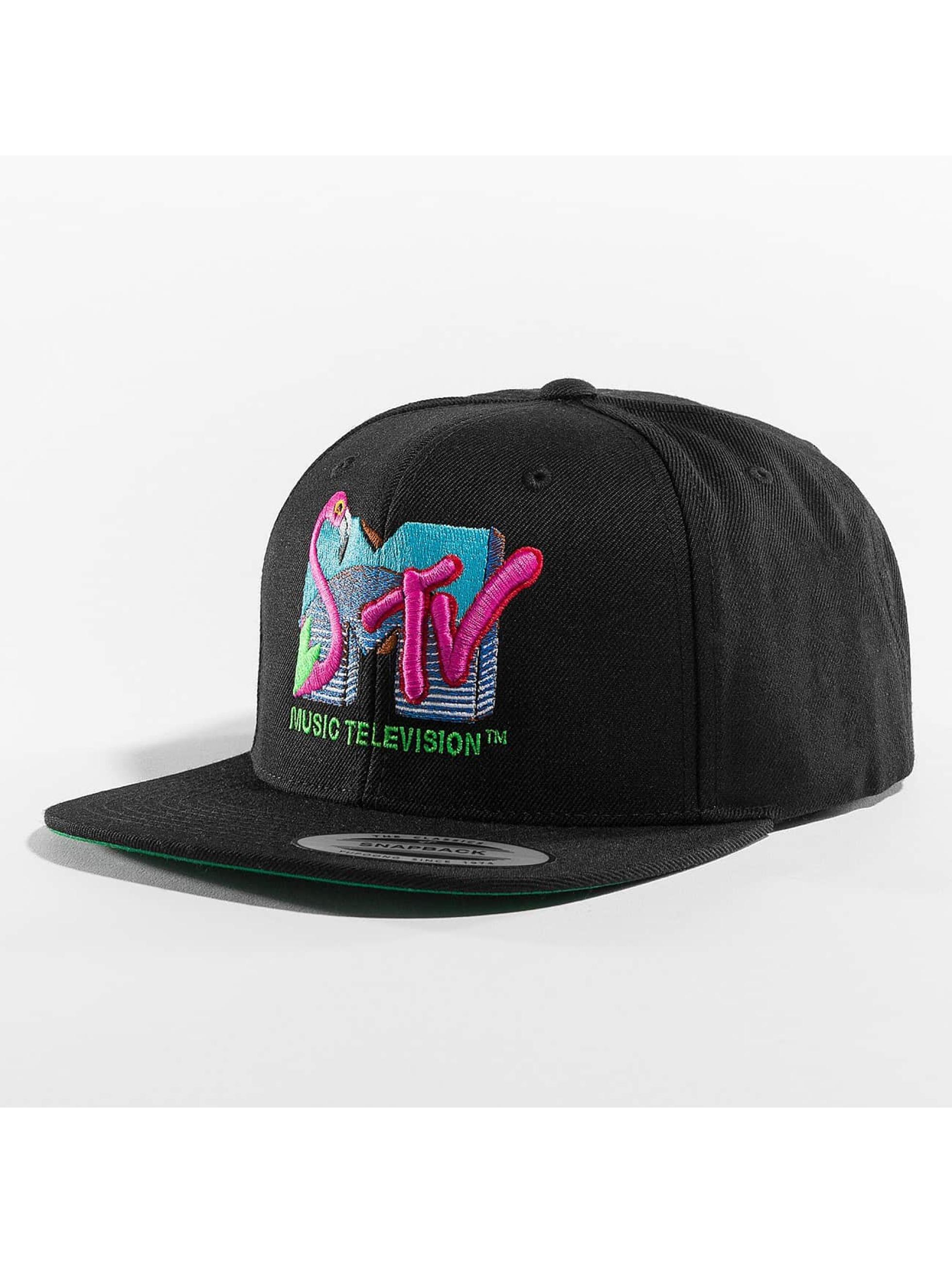 Merchcode Snapback Caps MTV Flamingo svart