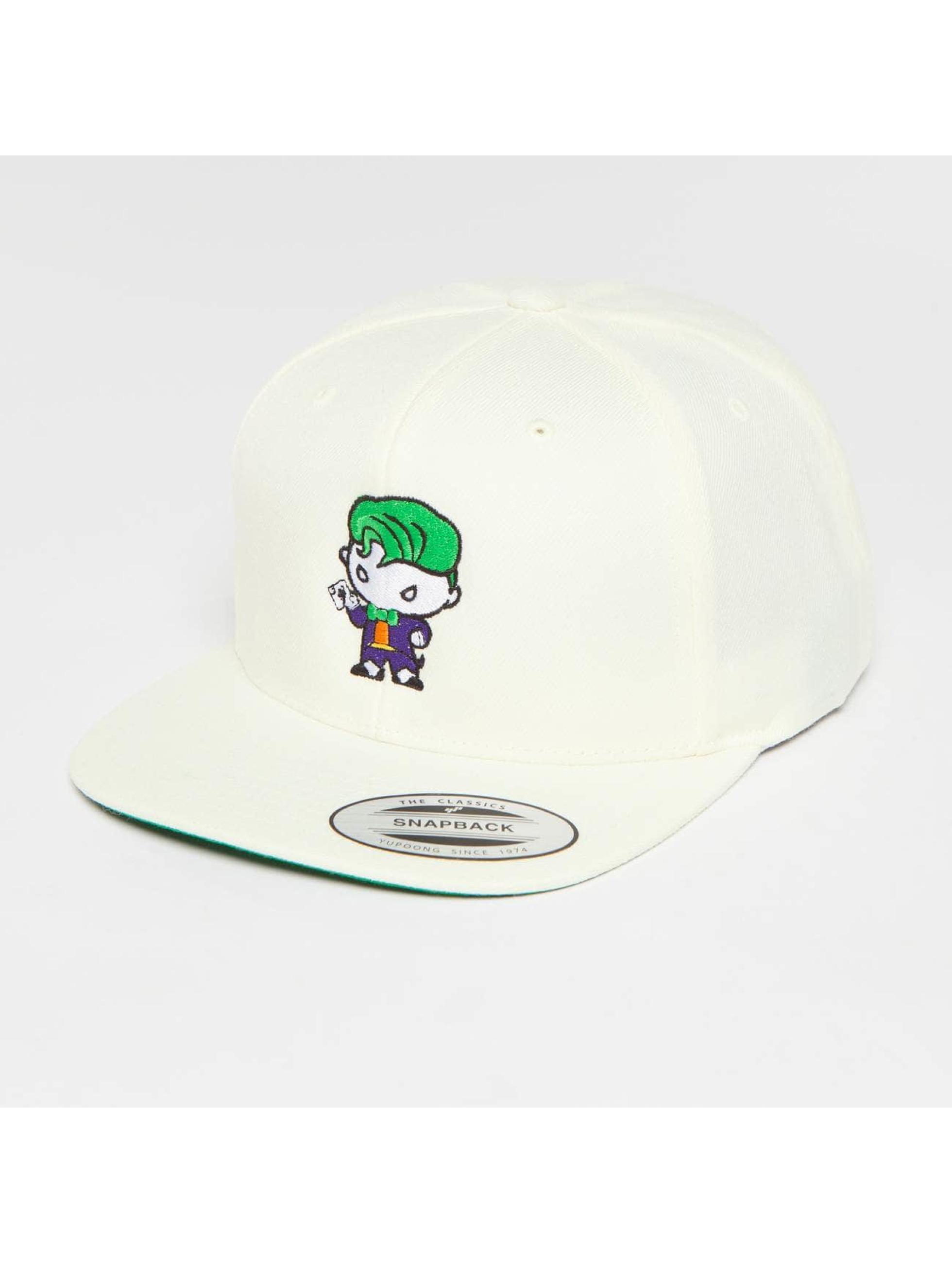 Merchcode Snapback Caps Joker Comic valkoinen