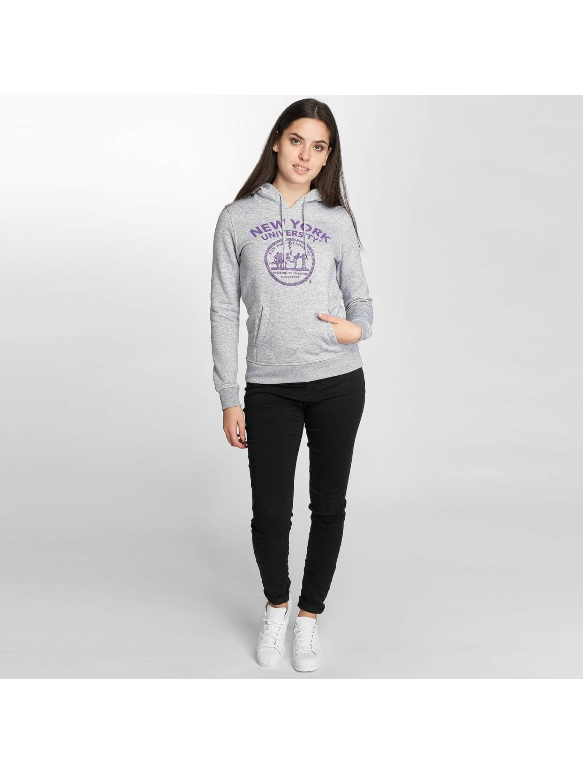 Merchcode Sweat capuche NYU Purple Logo gris