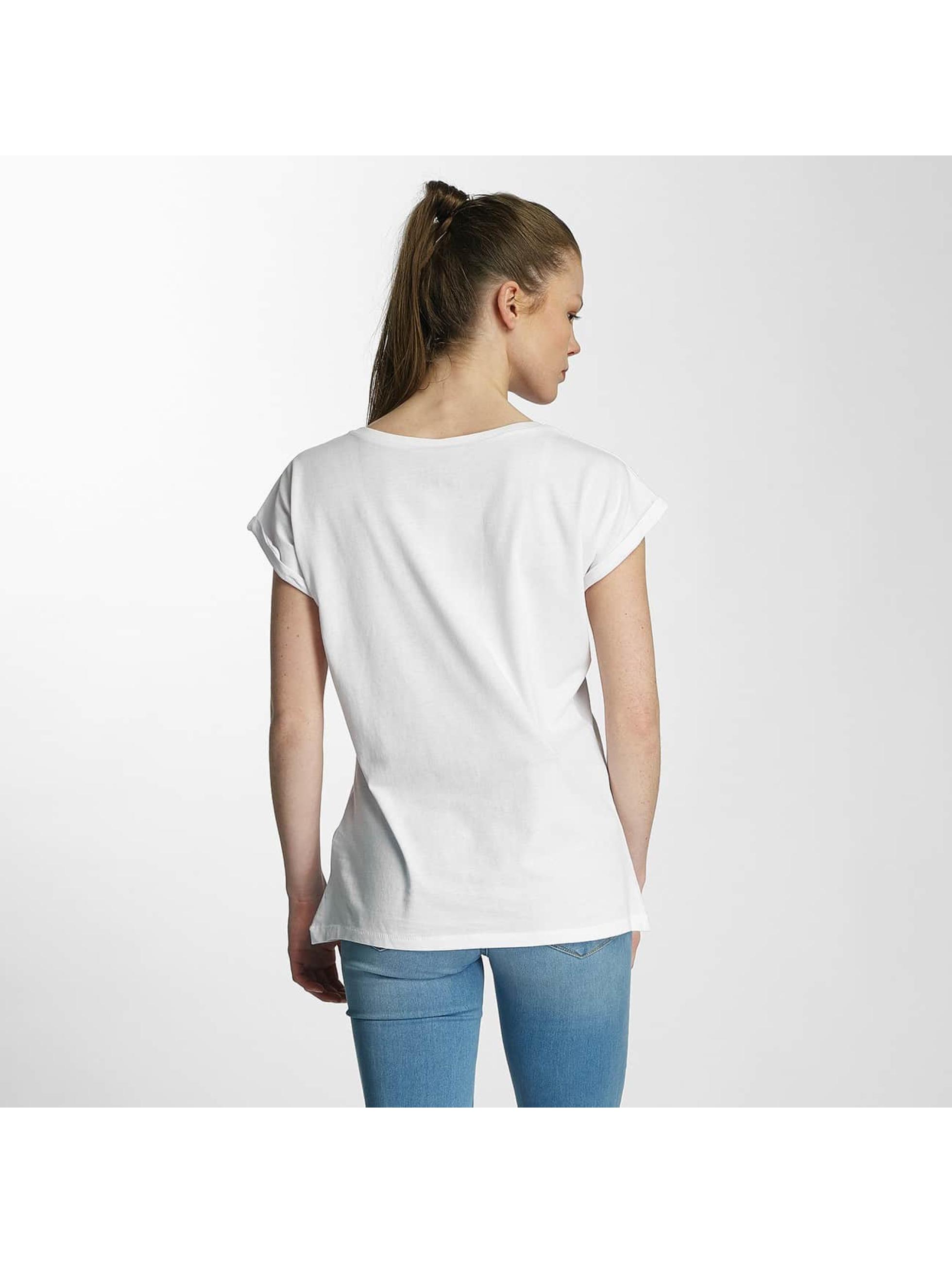 Merchcode T-paidat Ladies Banksy Panda Heart valkoinen