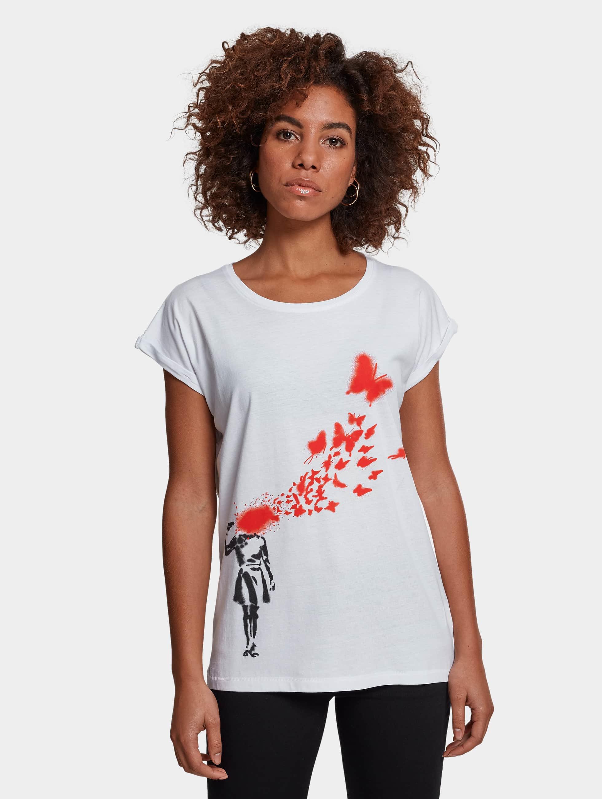 Merchcode T-paidat Ladies Banksy valkoinen