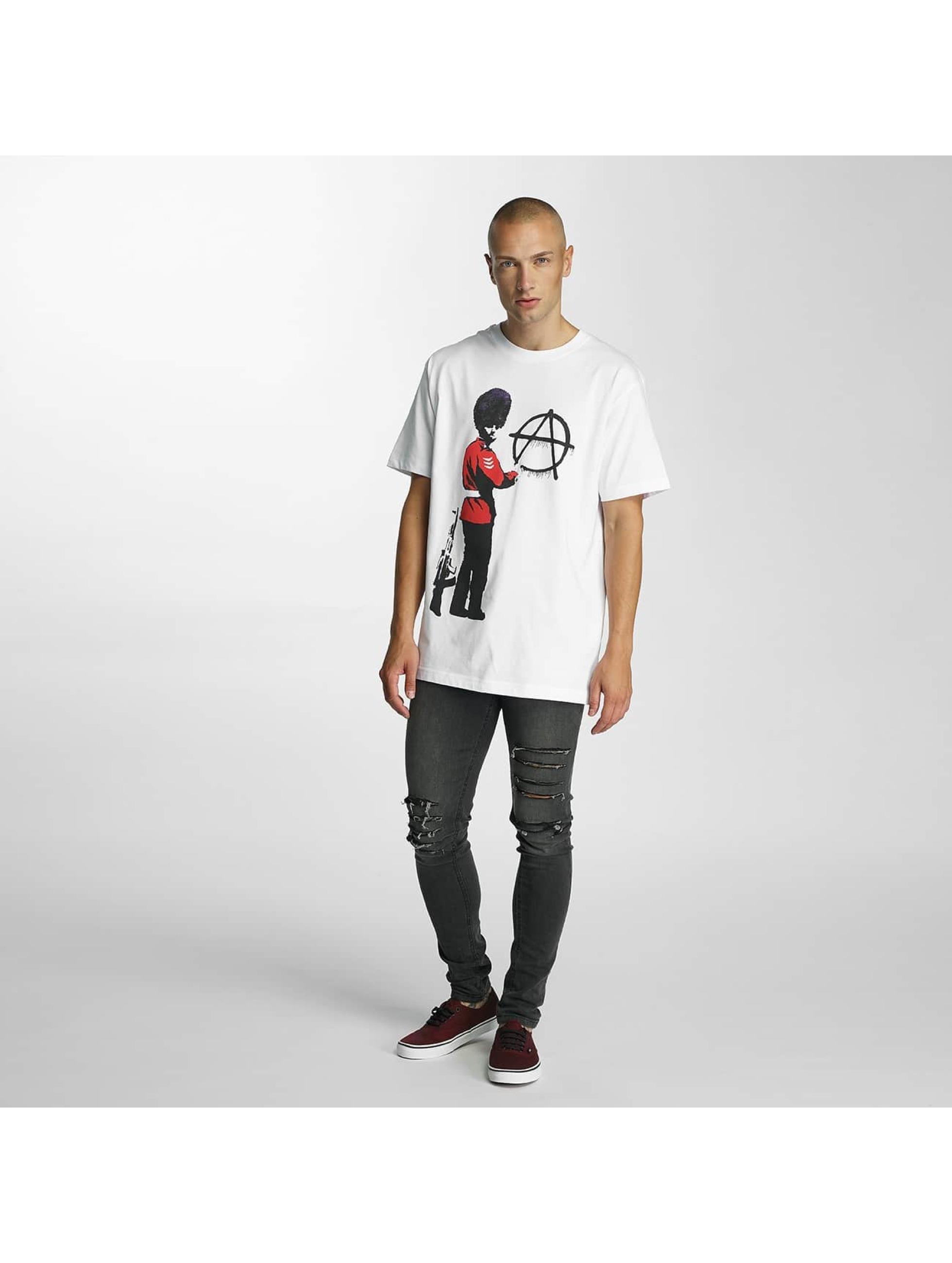 Merchcode T-shirt Banksy Anarchy bianco