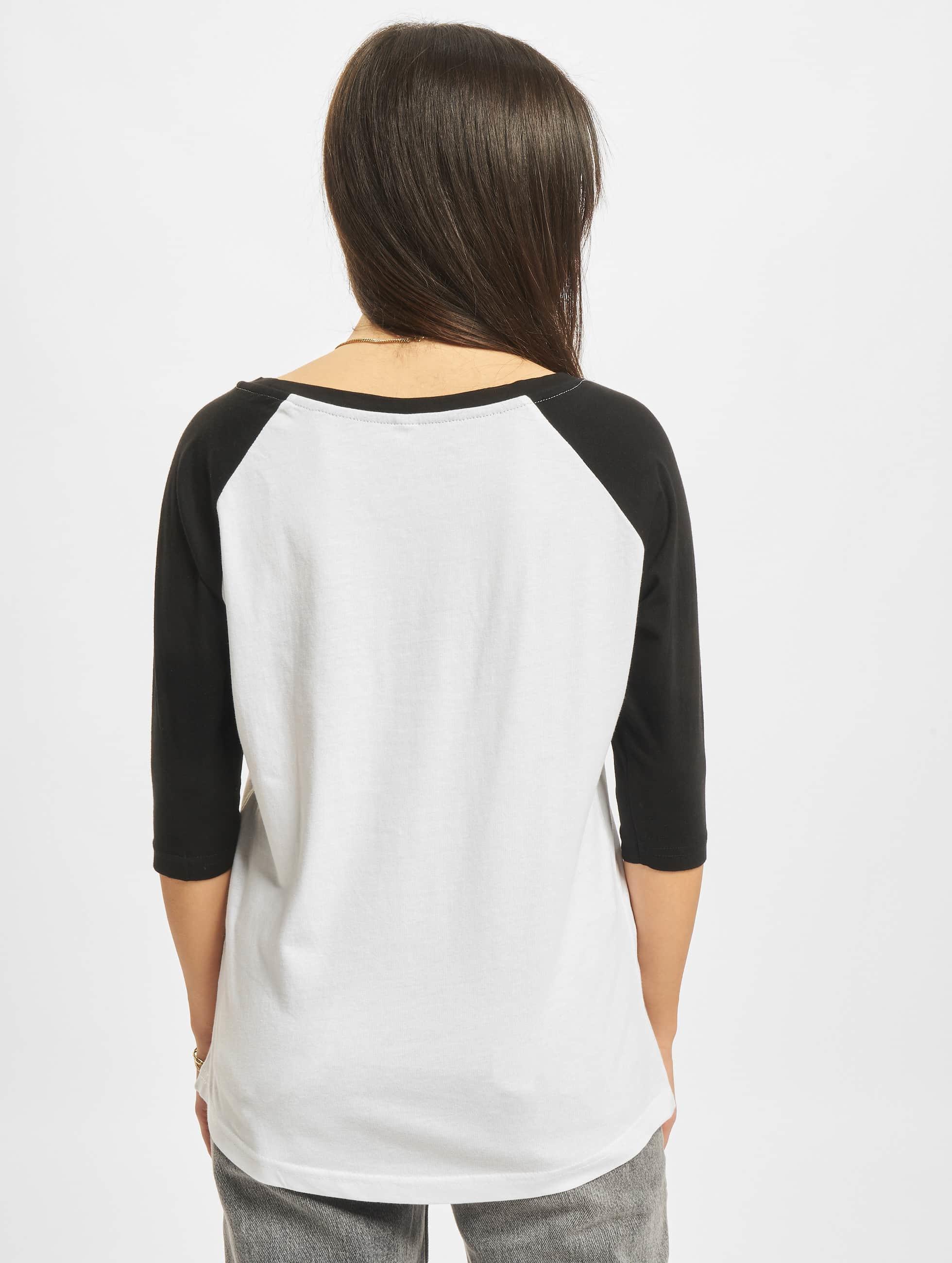 Merchcode T-shirt Ladies Banksy Ape Raglan bianco