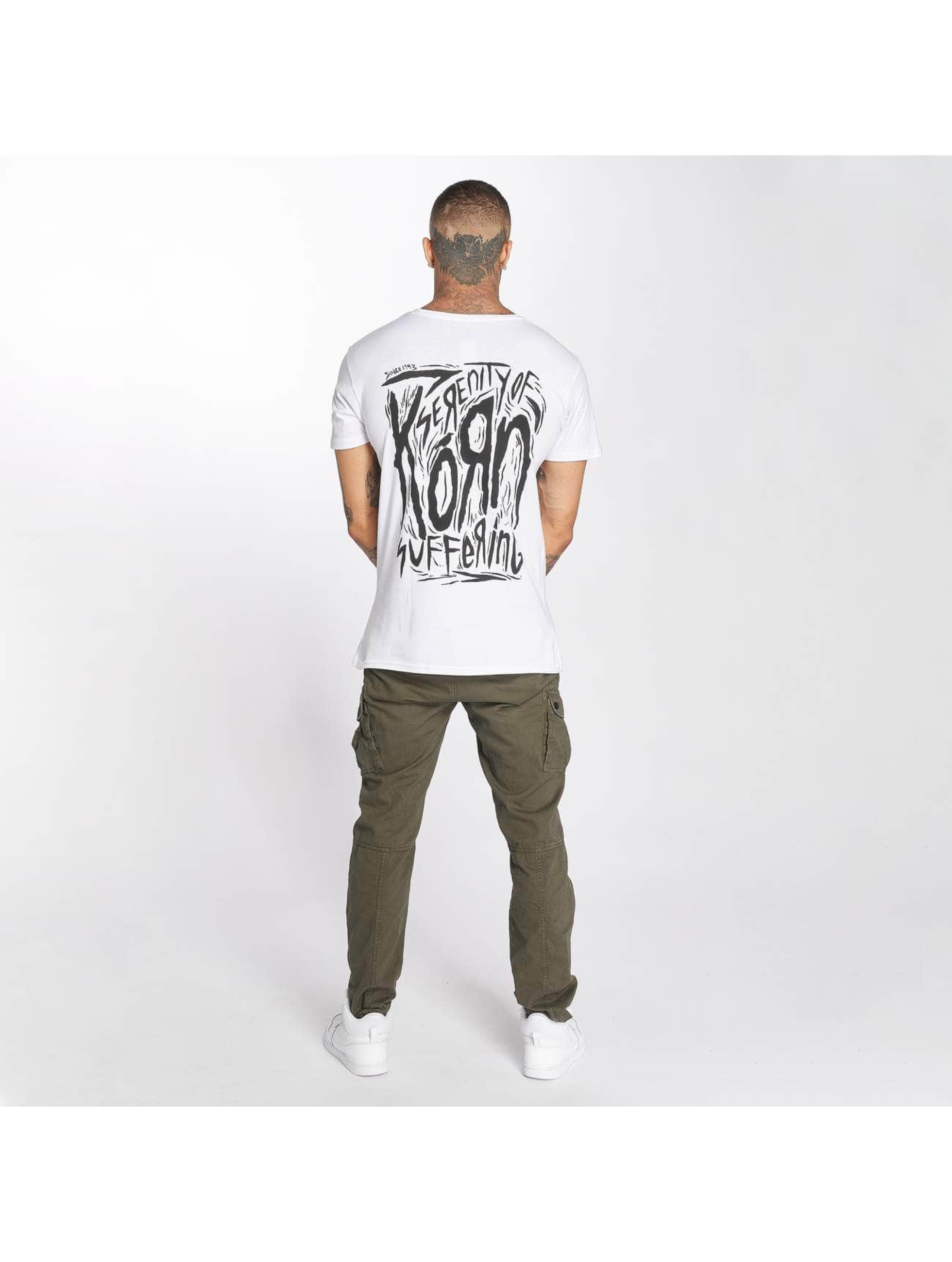 Merchcode T-shirt Korn Suffering bianco