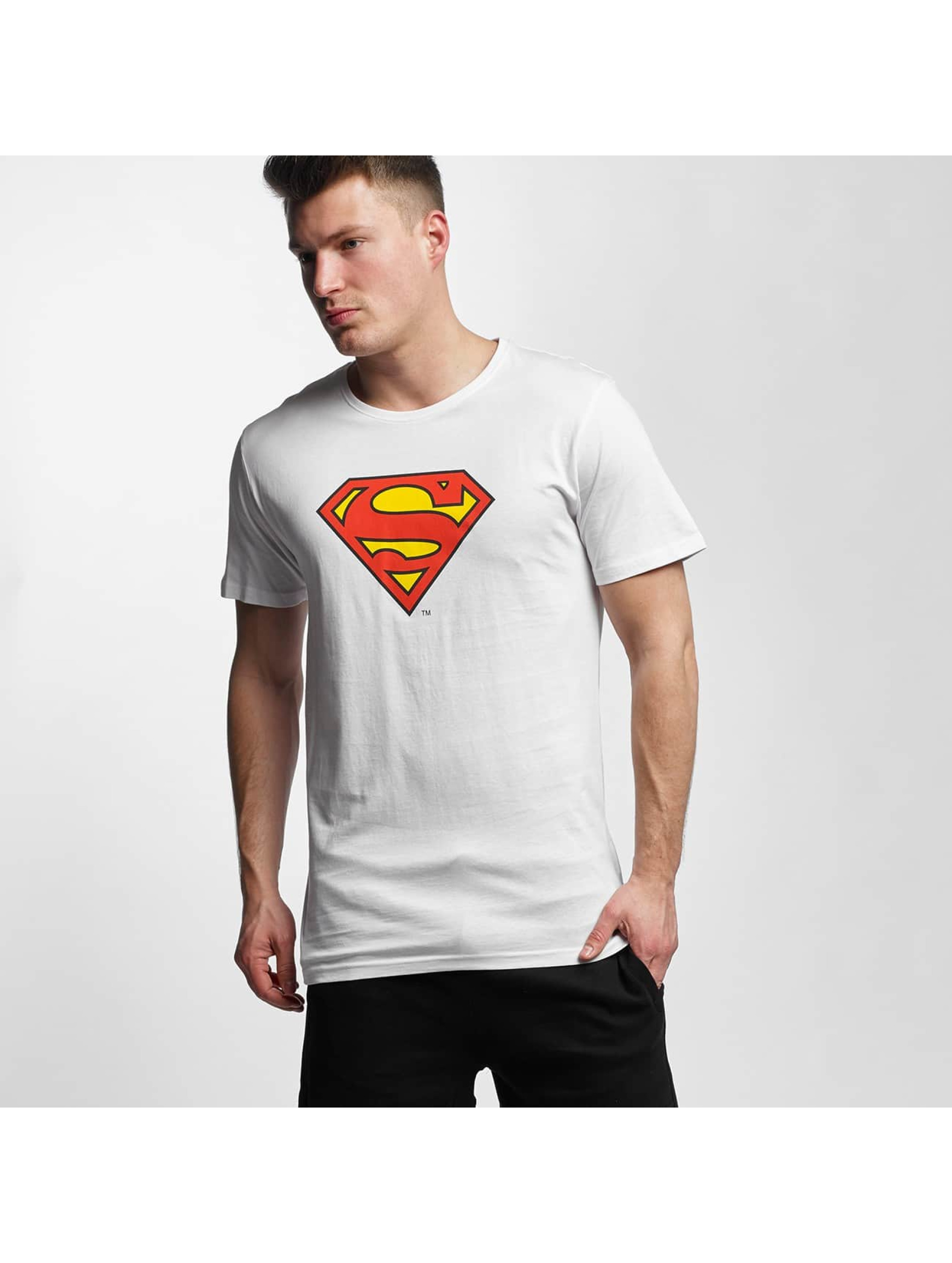 T-Shirt Merchcode Superman Logo en blanc