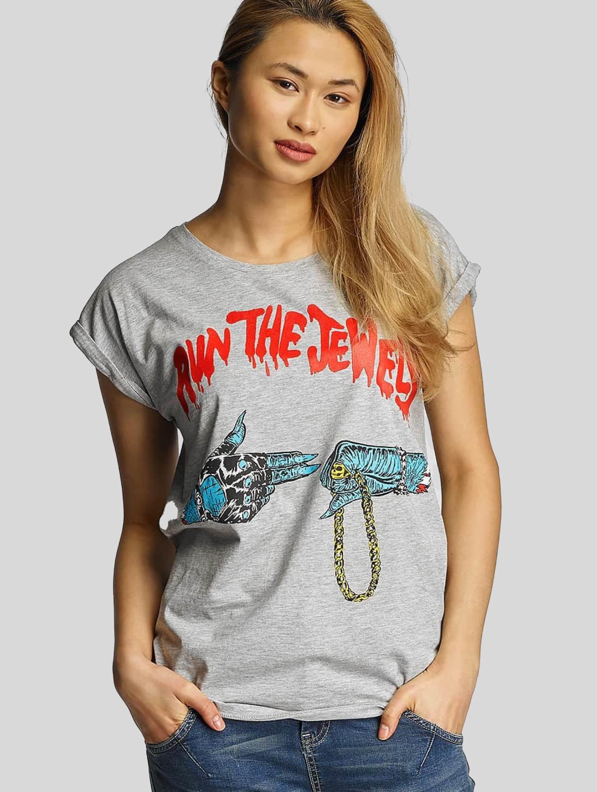 Merchcode T-Shirt Run The Jewels Goldchain grau
