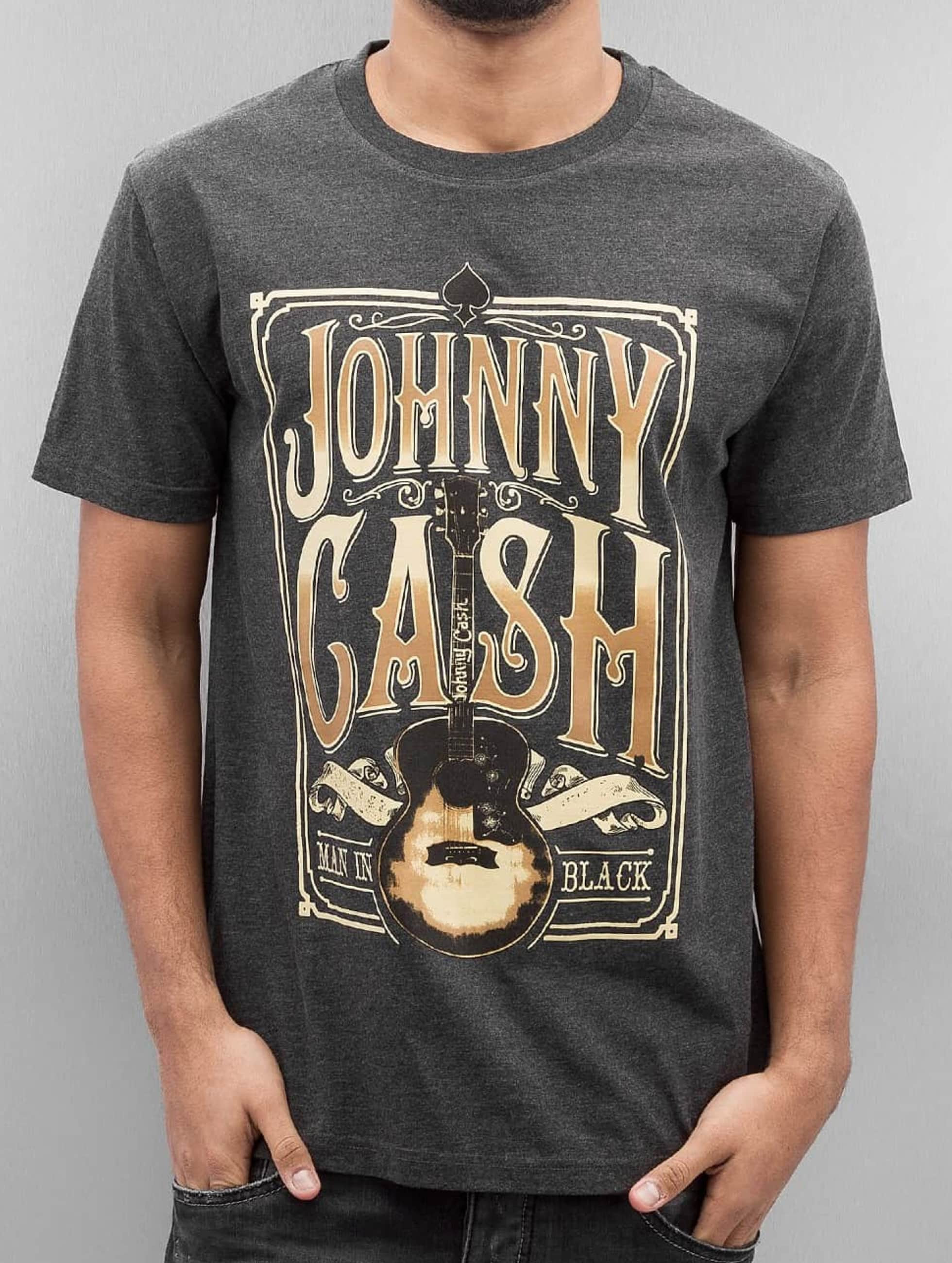 Merchcode Haut / T-Shirt Johnny Cash Man In Black en gris