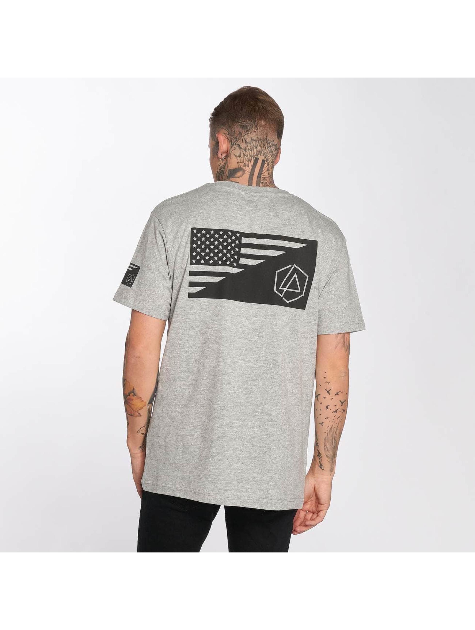 Merchcode T-Shirt Linkin Park Flag gris