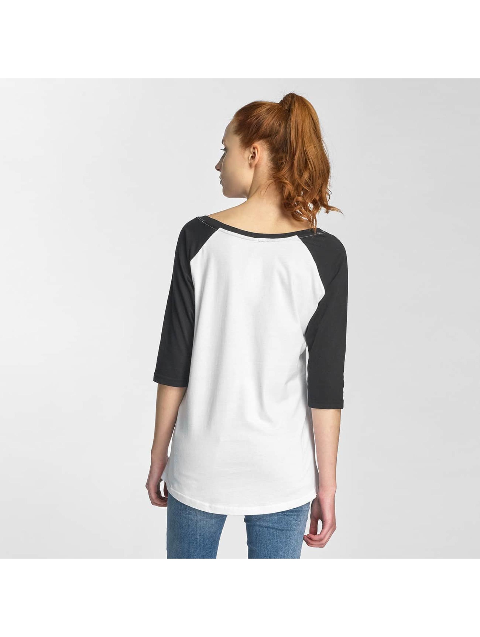 Merchcode T-Shirt manches longues Ladies Ramones Circle Raglan blanc