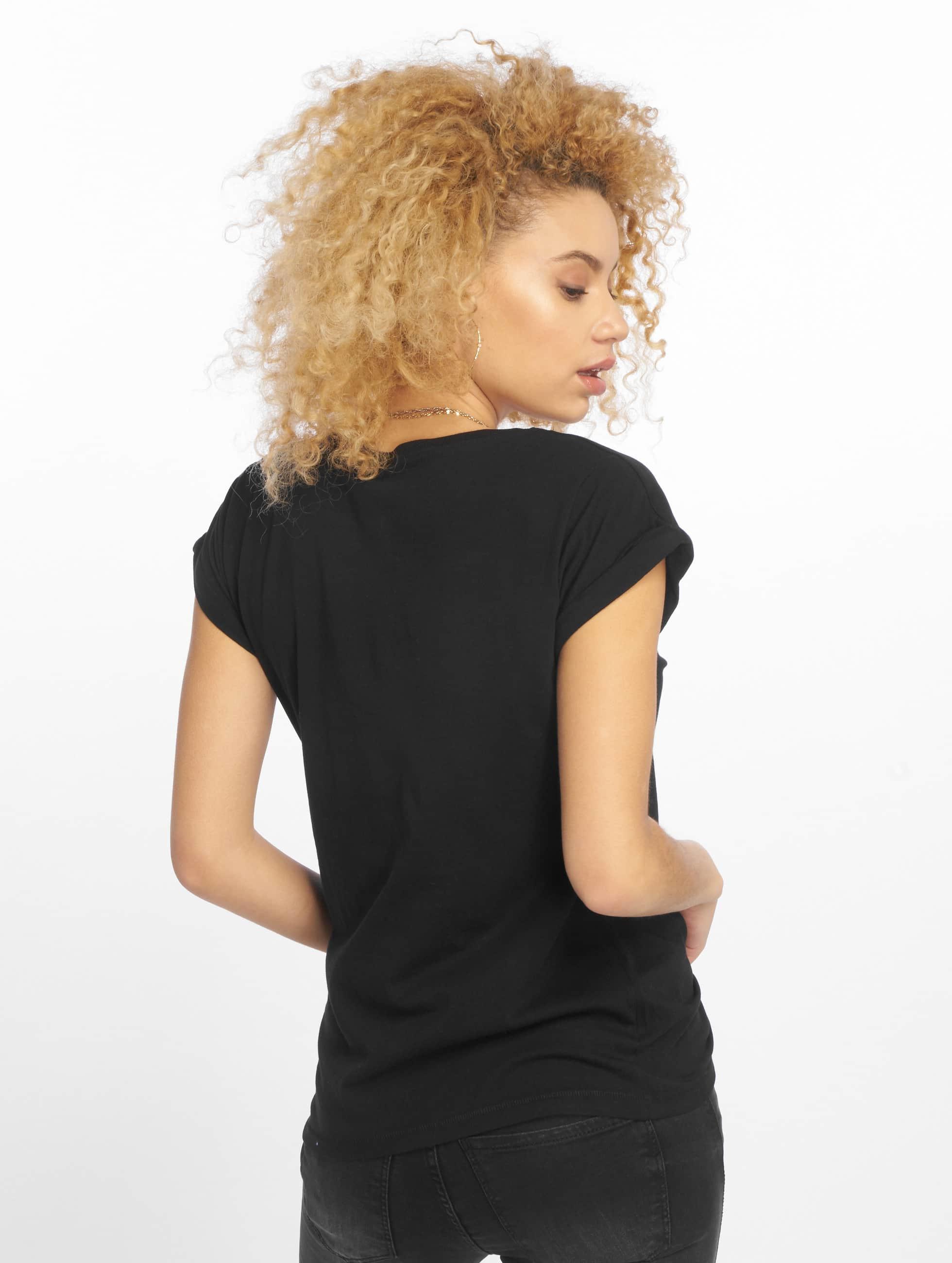 Merchcode T-Shirt Petsrock Lady noir