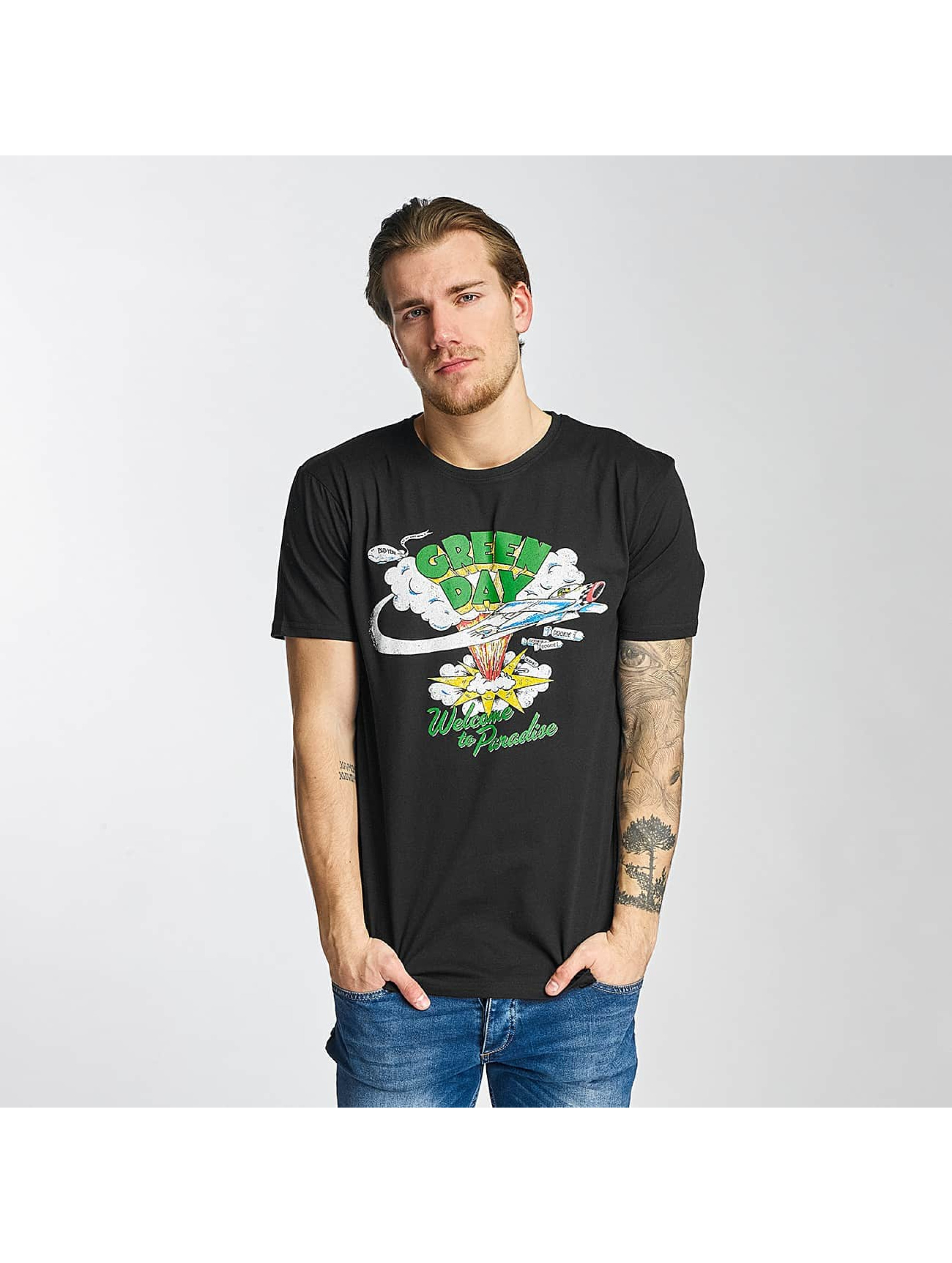Merchcode T-Shirt Green Day Paradise schwarz