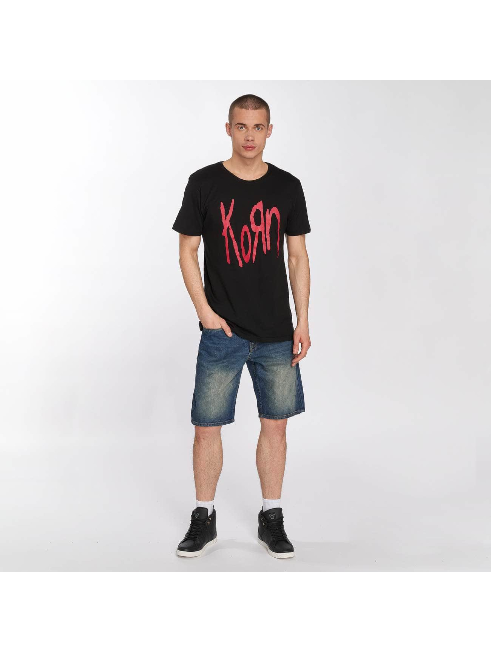 Merchcode T-shirt Korn Logo svart
