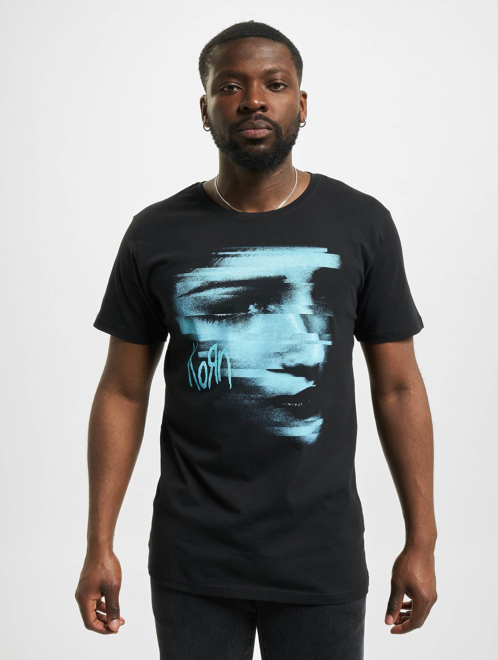 Merchcode T-shirt Korn Face svart