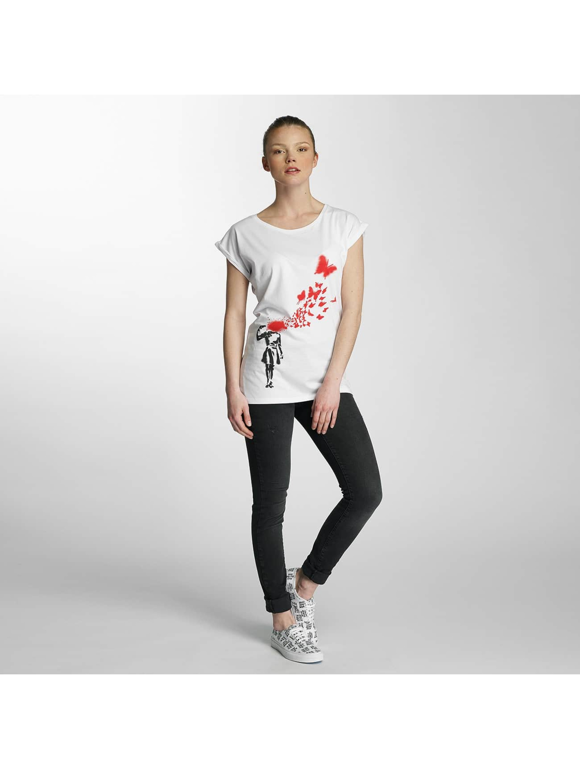 Merchcode T-Shirt Ladies Banksy weiß