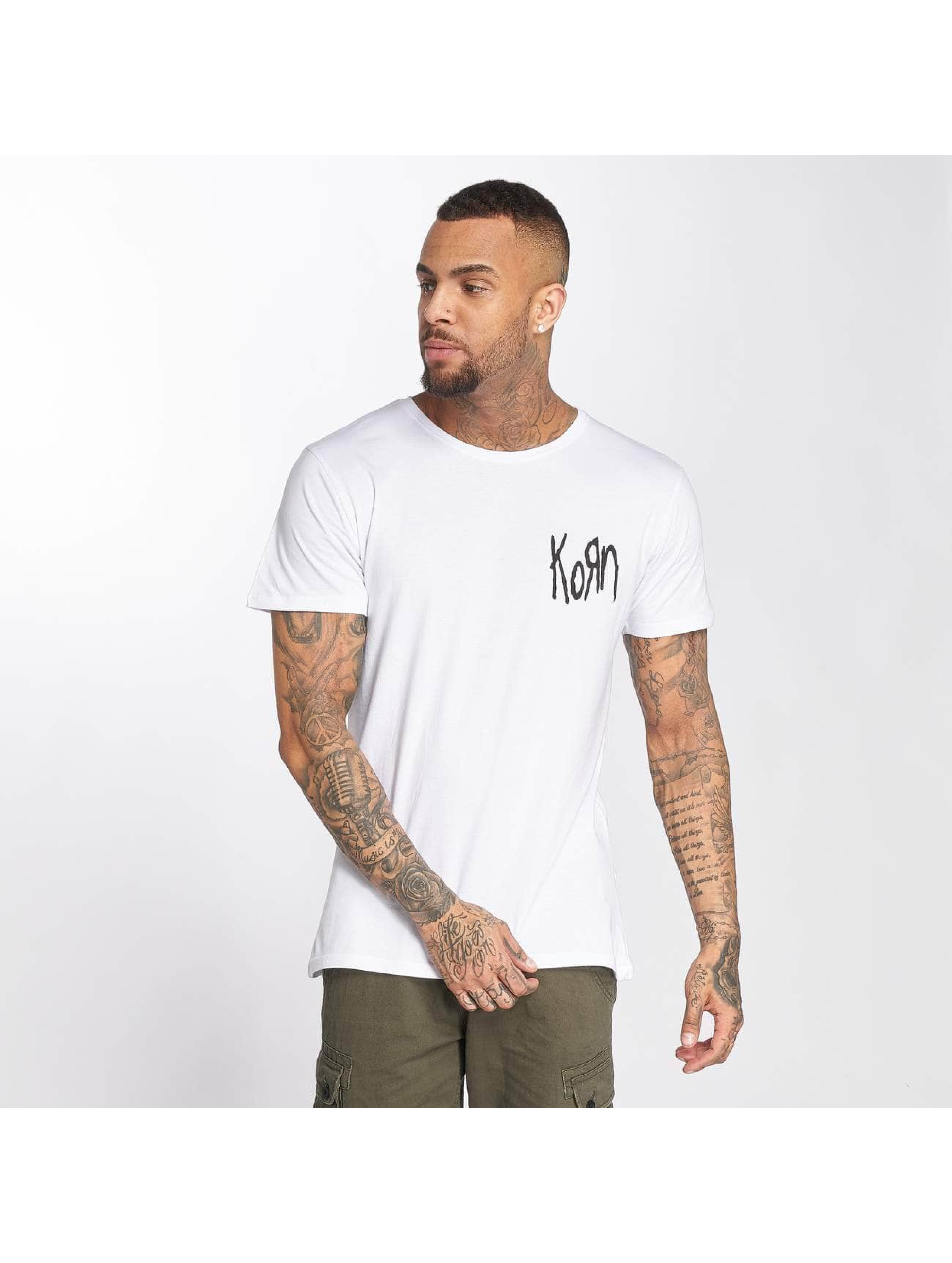 Merchcode T-Shirt Korn Suffering weiß