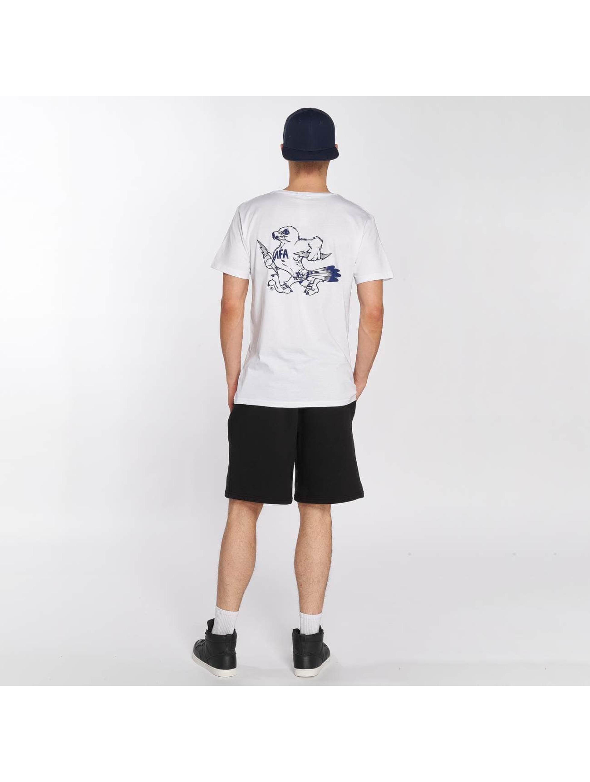 Merchcode T-Shirt Air Force Bird weiß