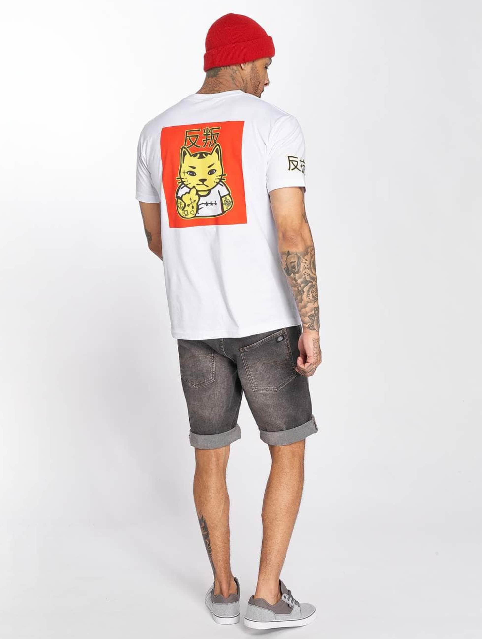Merchcode T-Shirt Asia Cat white