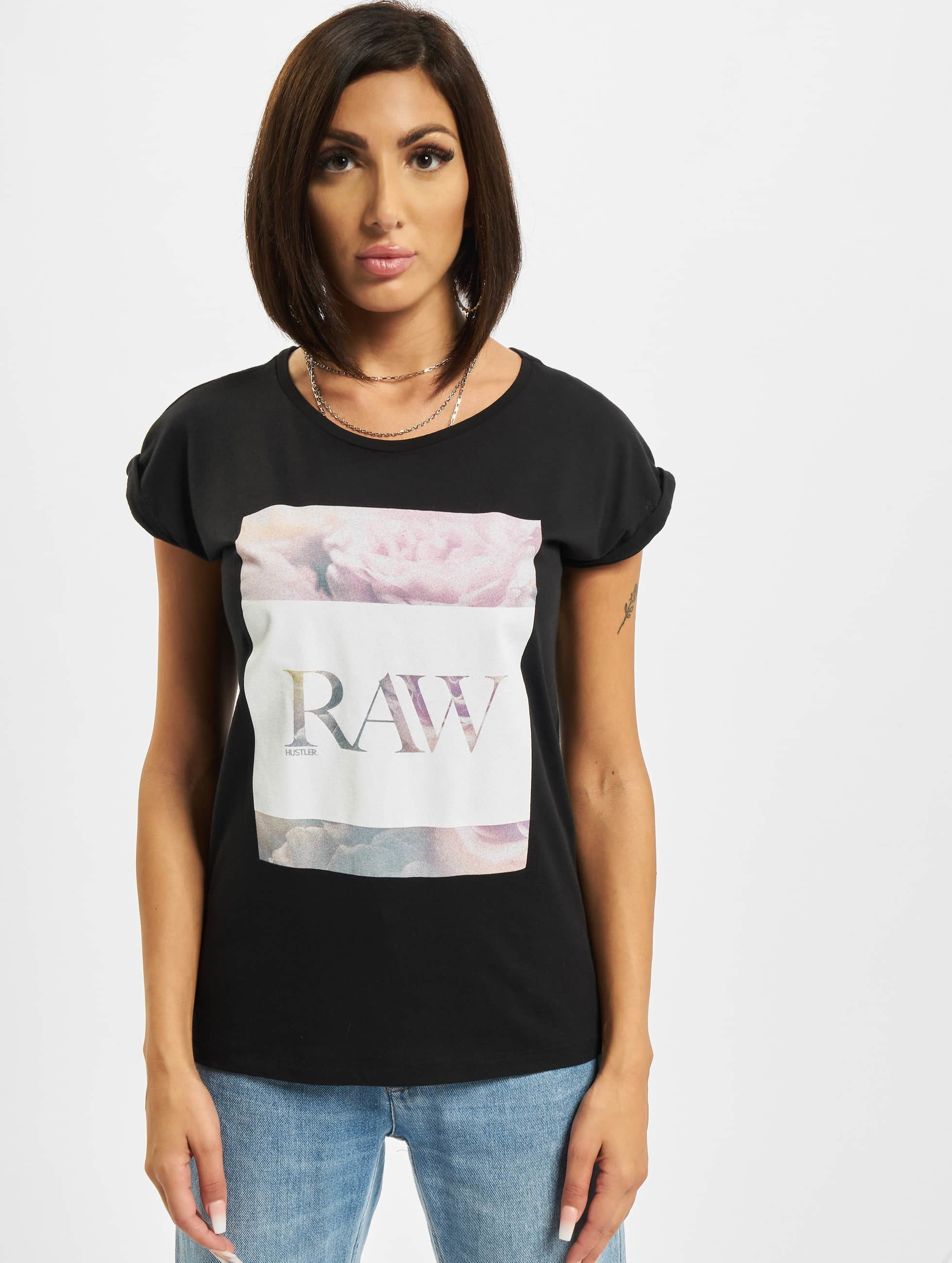 Merchcode t-shirt Hustler Raw zwart