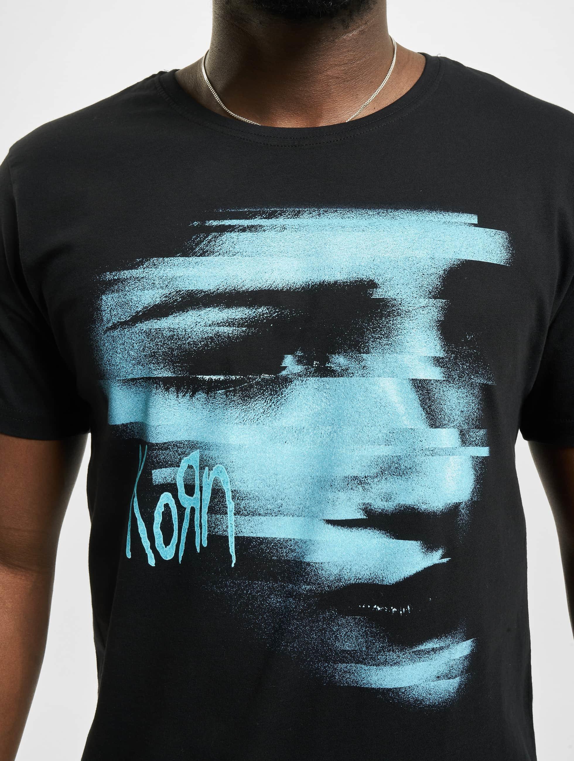 Merchcode t-shirt Korn Face zwart
