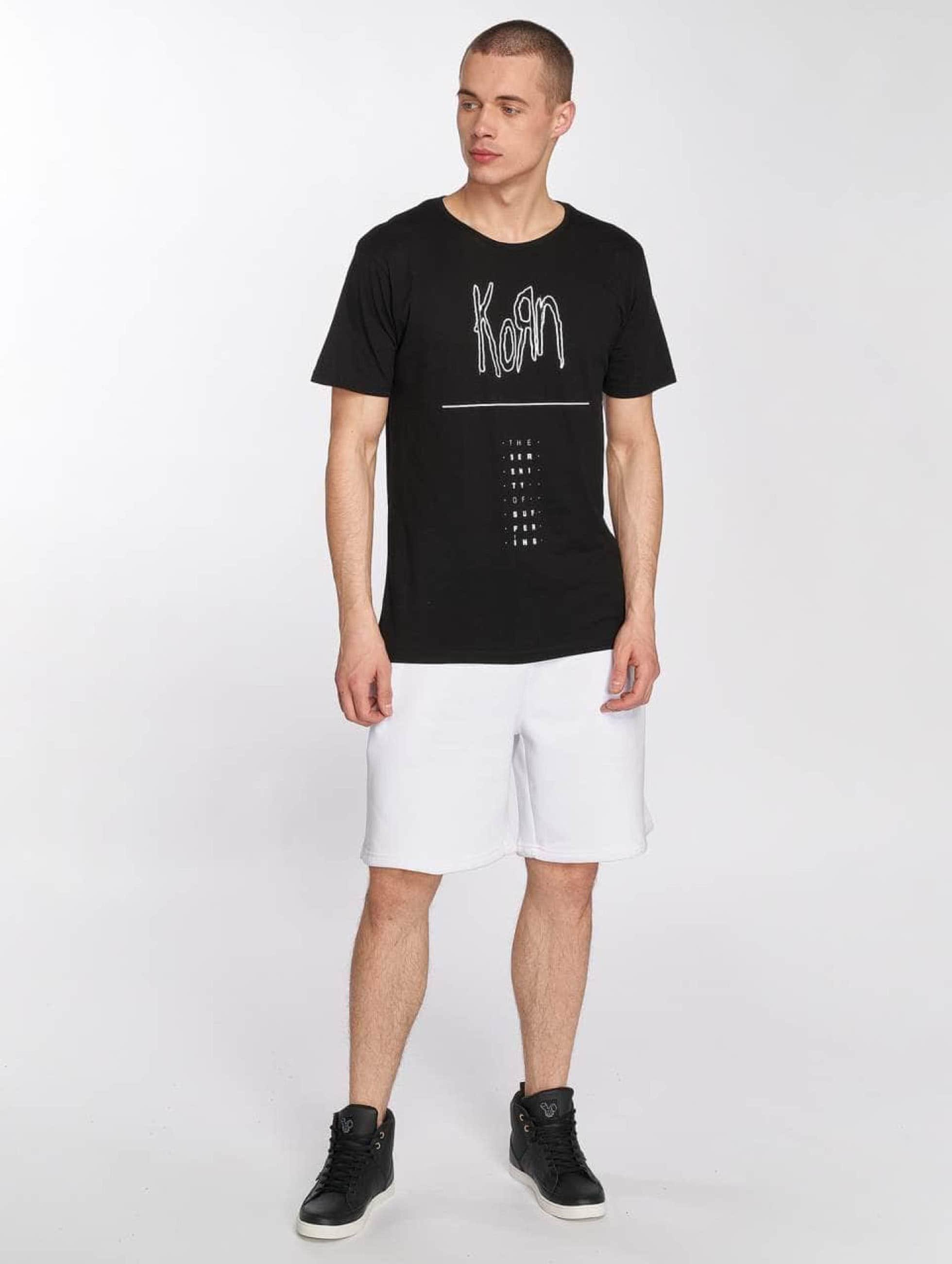 Merchcode t-shirt Korn Serenity zwart