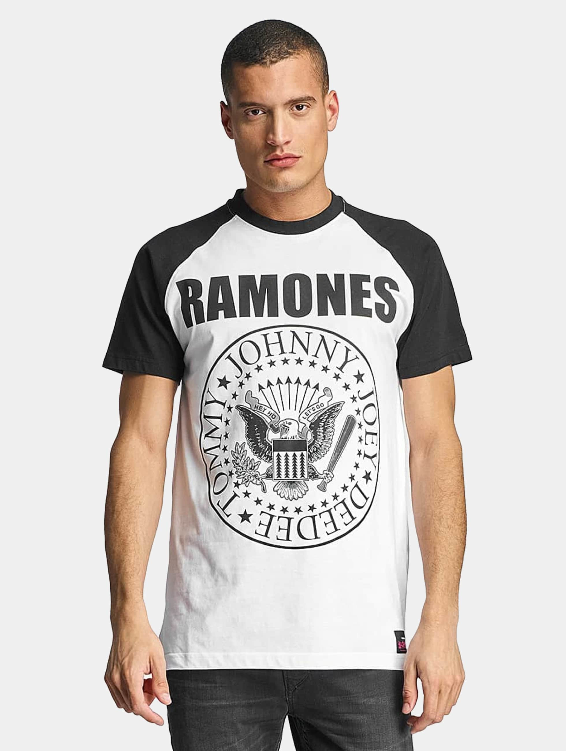 Merchcode T-shirts Ramones hvid