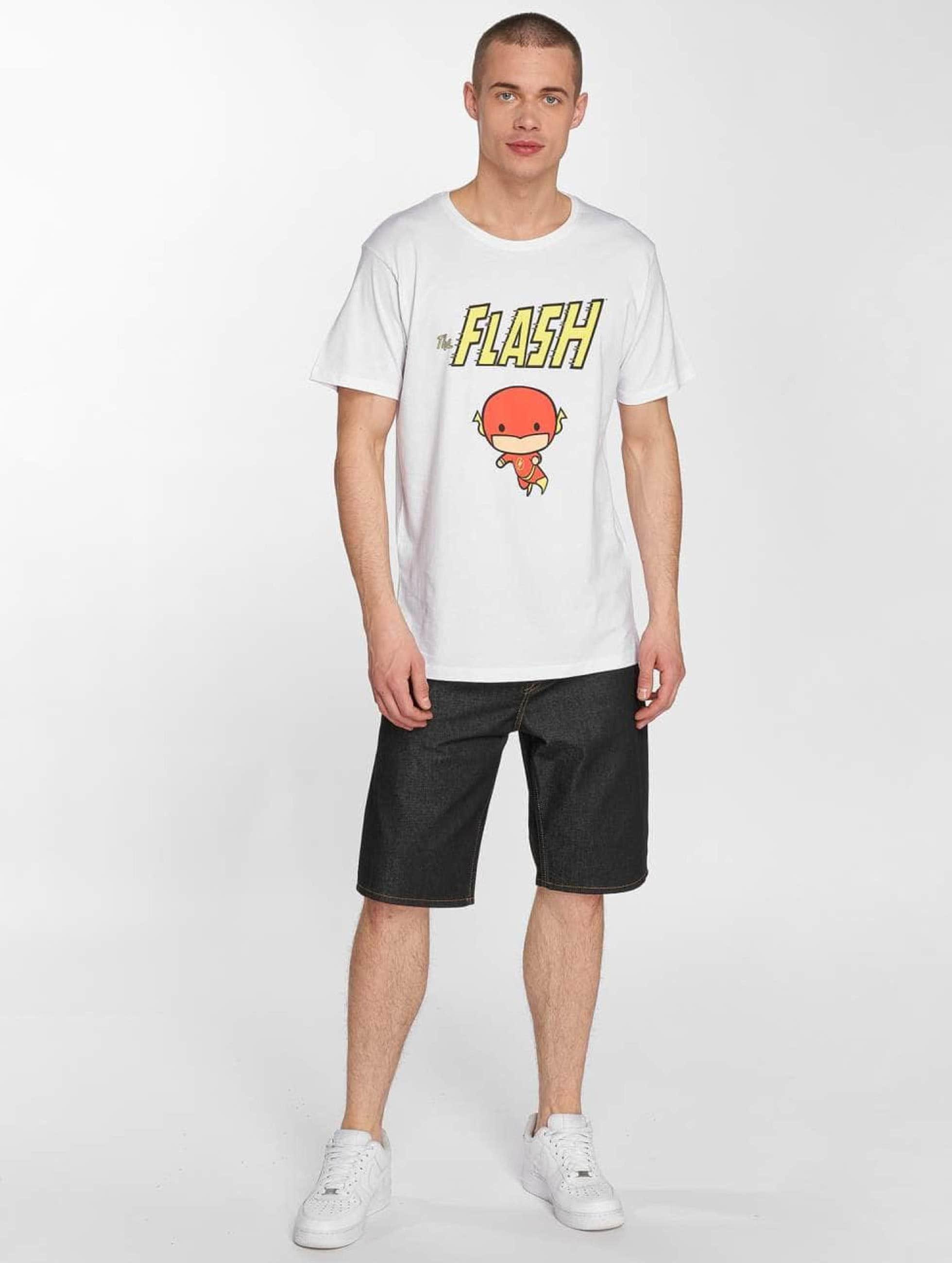 Merchcode T-shirts The Flash Comic hvid