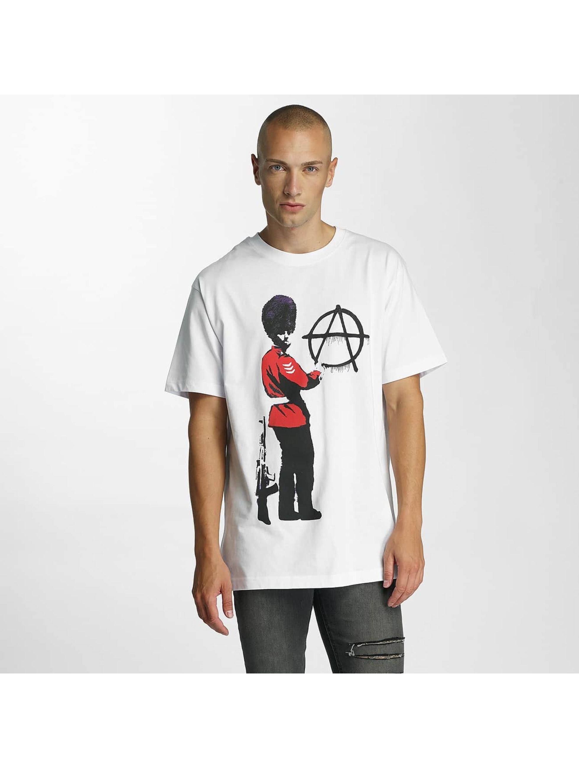 Merchcode T-Shirty Banksy Anarchy bialy