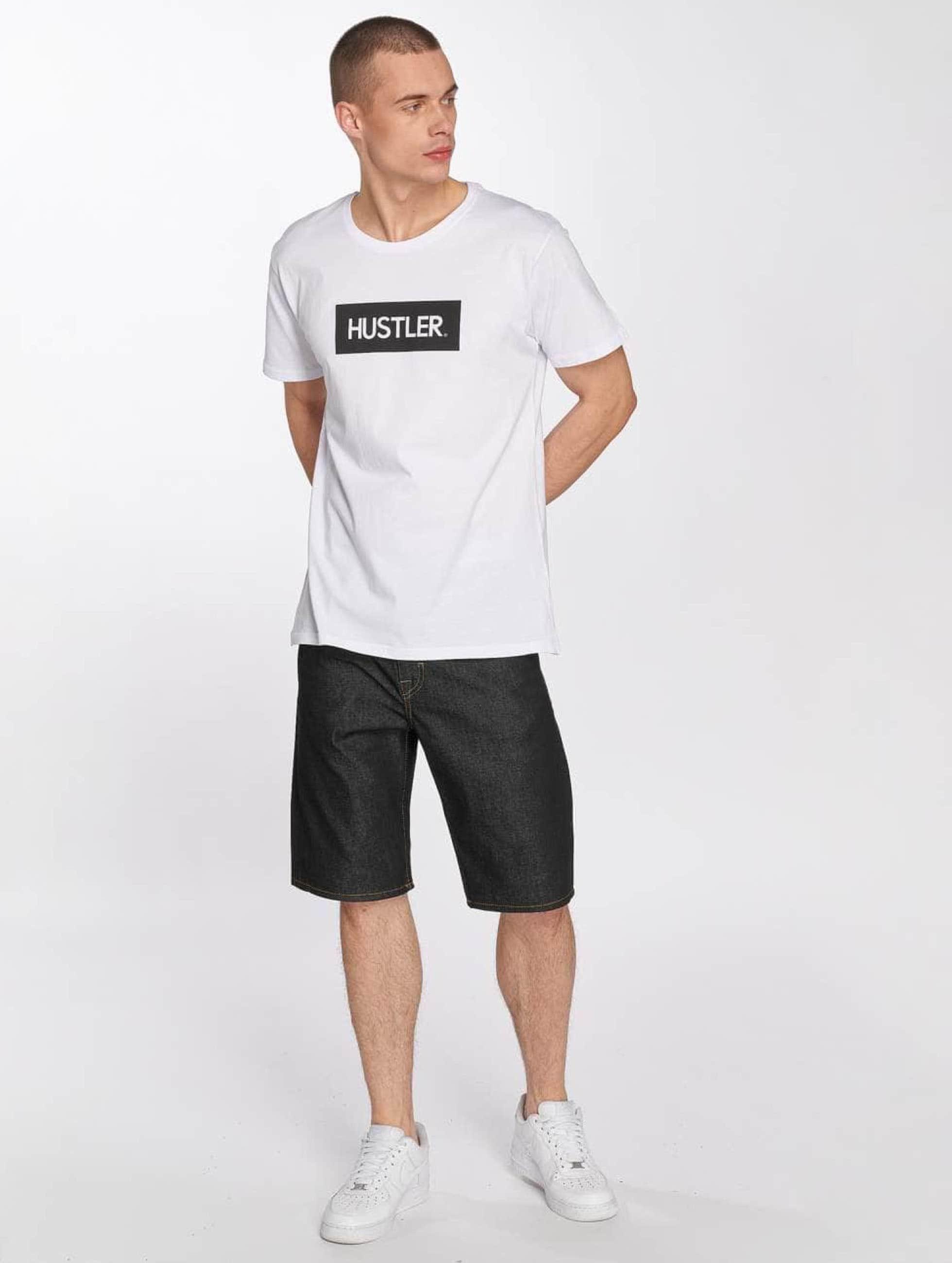 Merchcode T-Shirty Hustler Box Logo bialy