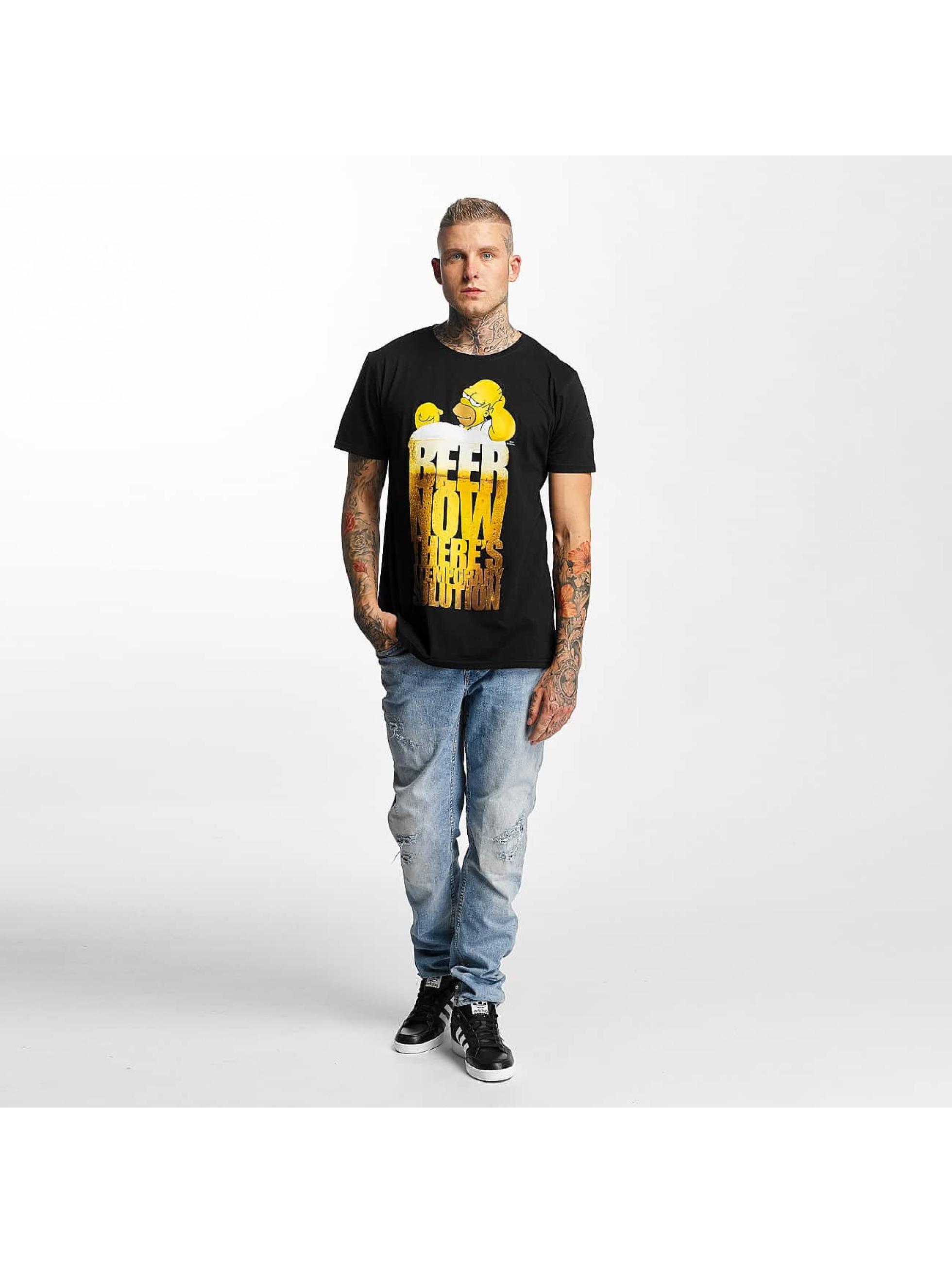 Merchcode T-Shirty Simpsons Beer Now czarny