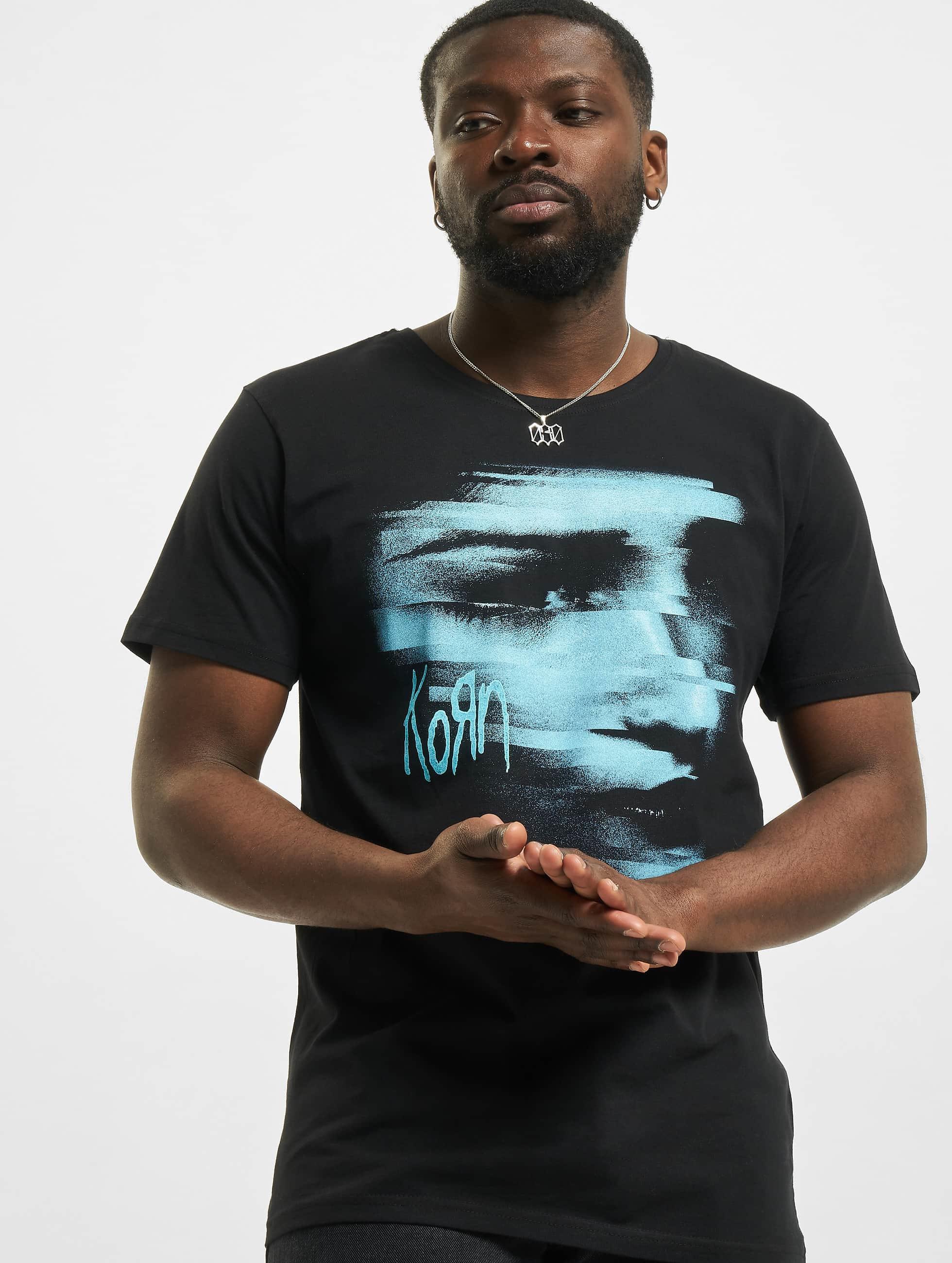 Merchcode T-Shirty Korn Face czarny