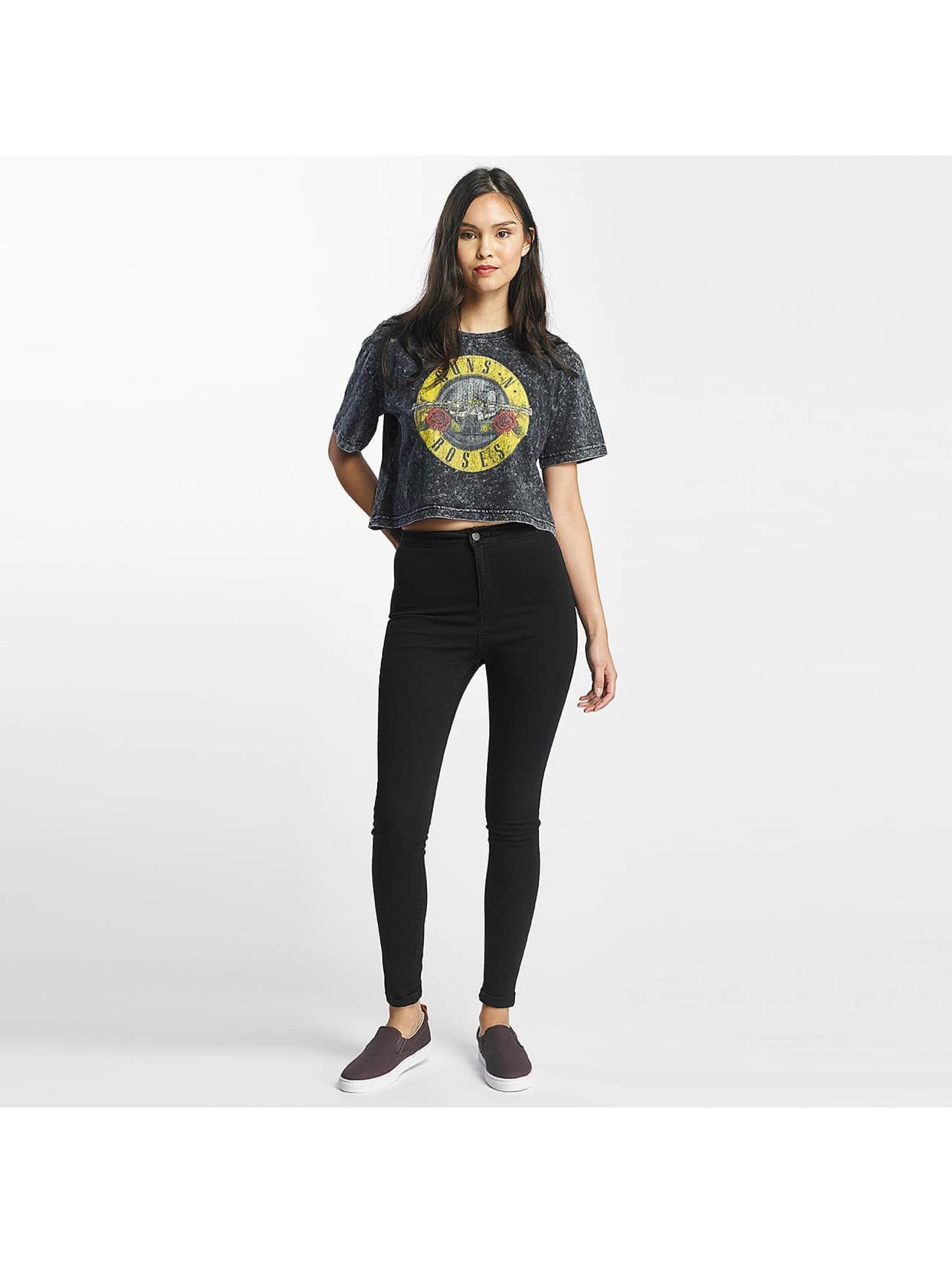 Merchcode T-Shirty Guns N Roses Oversize szary