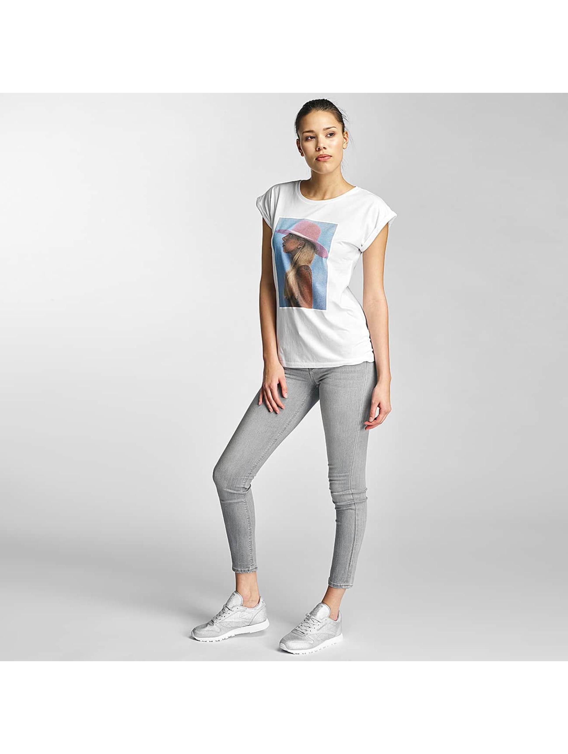 Merchcode T-skjorter Lady Gaga Hat hvit