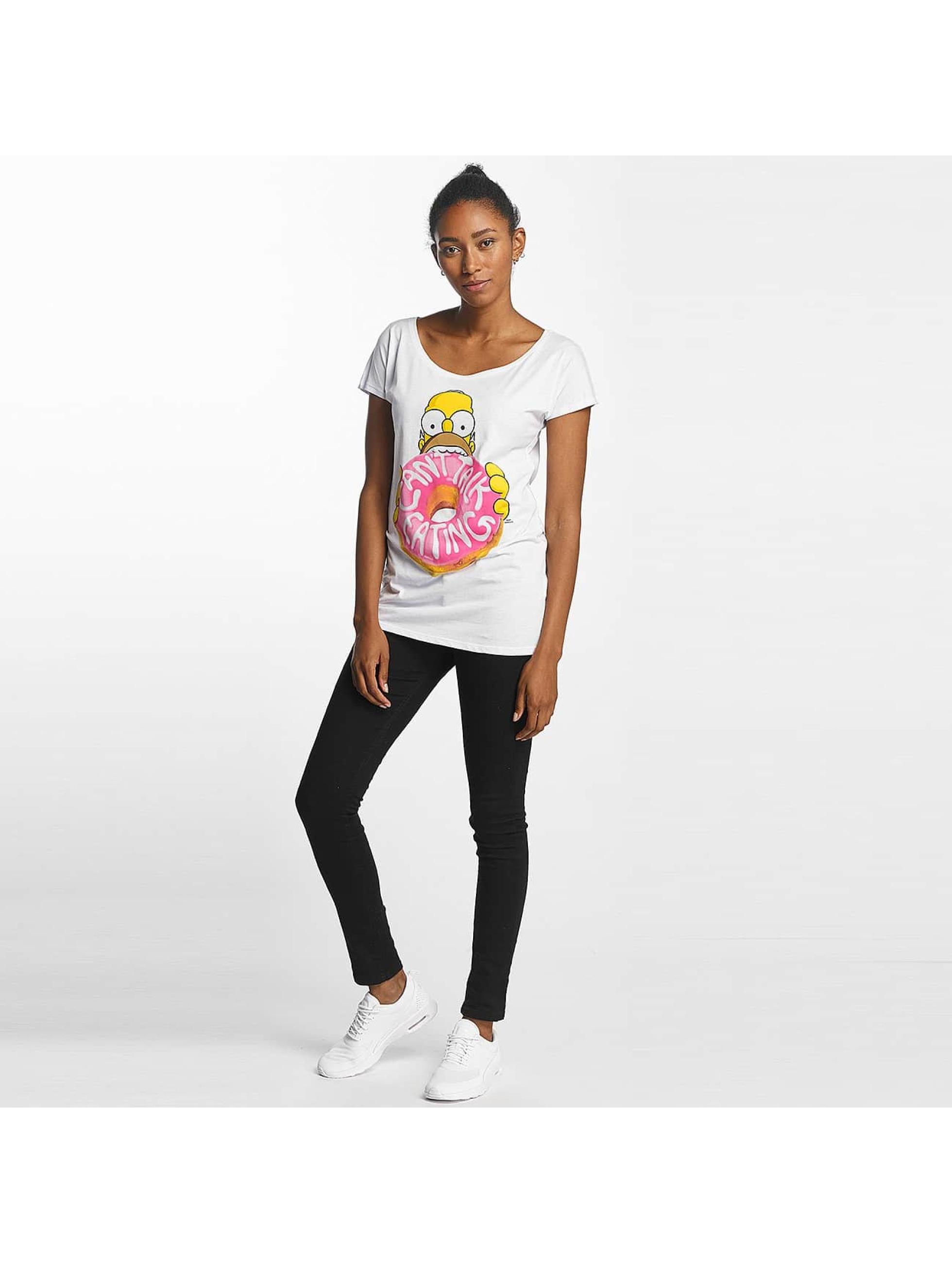 Merchcode T-skjorter Simpsons Donut hvit