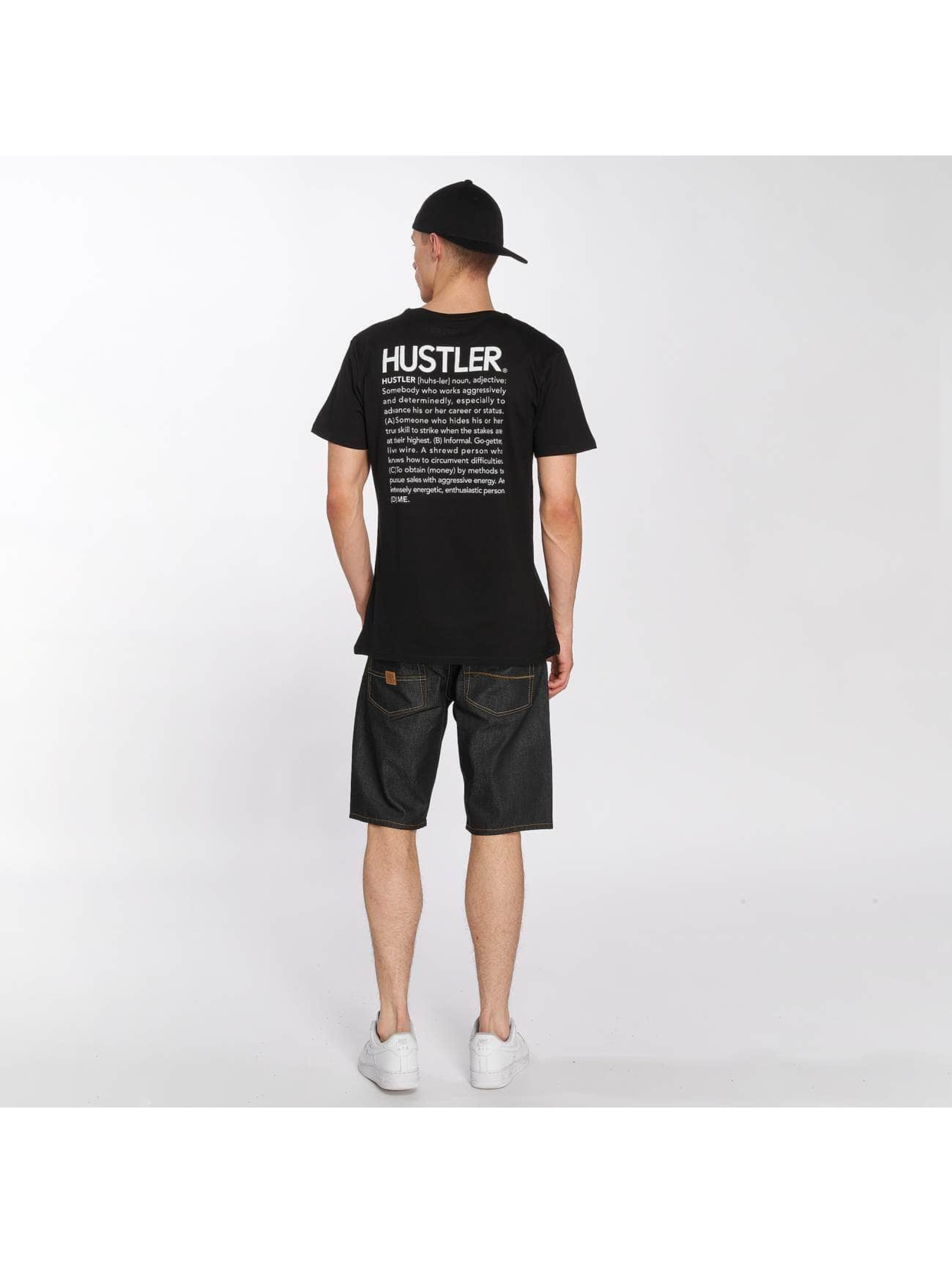 Merchcode Tričká Hustler Definition èierna