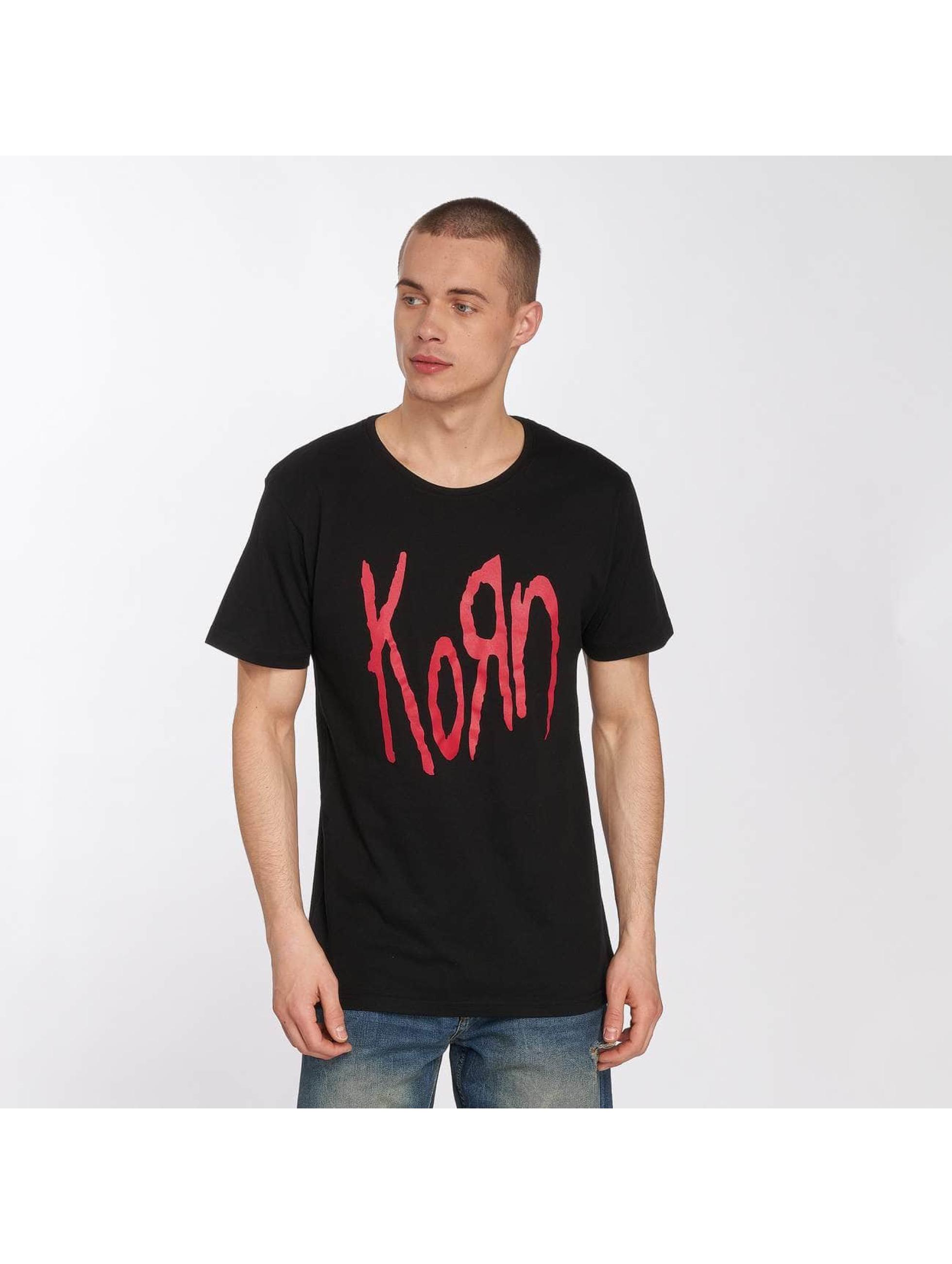 Merchcode Tričká Korn Logo èierna