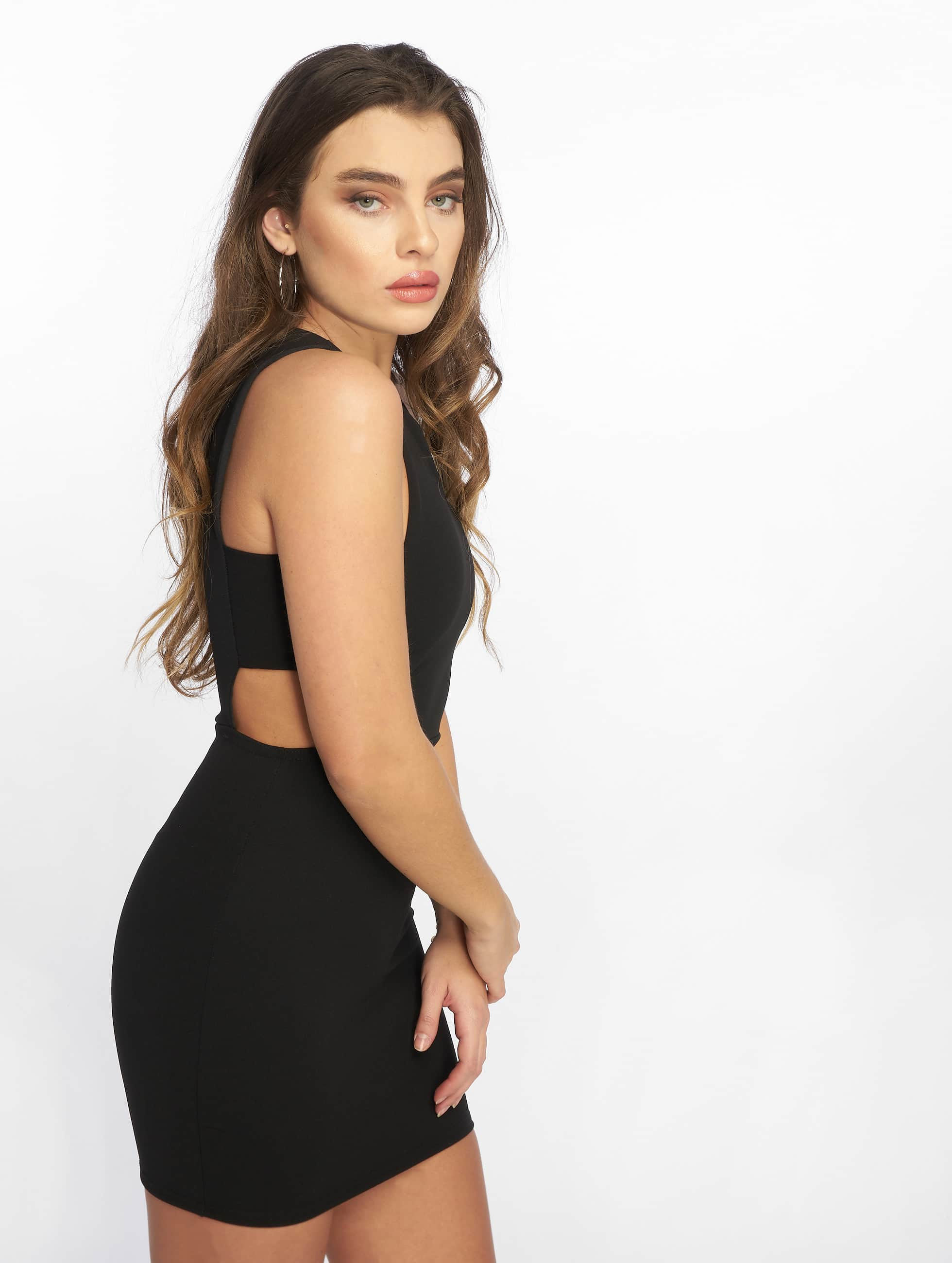 Missguided Sleeveless Cut Out Side Bodycon Dress Black