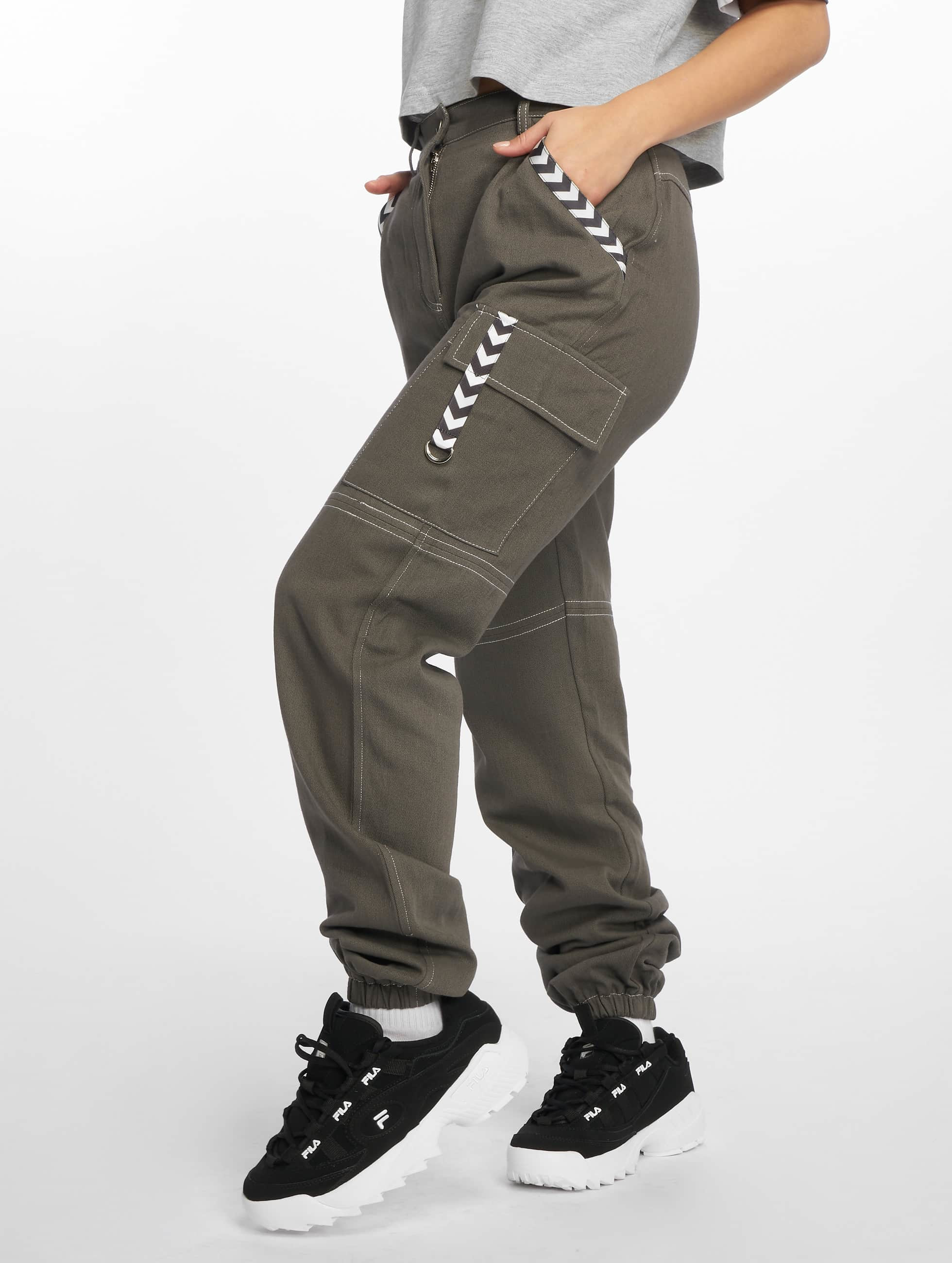 Tape Grey Missguided Trousers Sports Cargo dtQshr