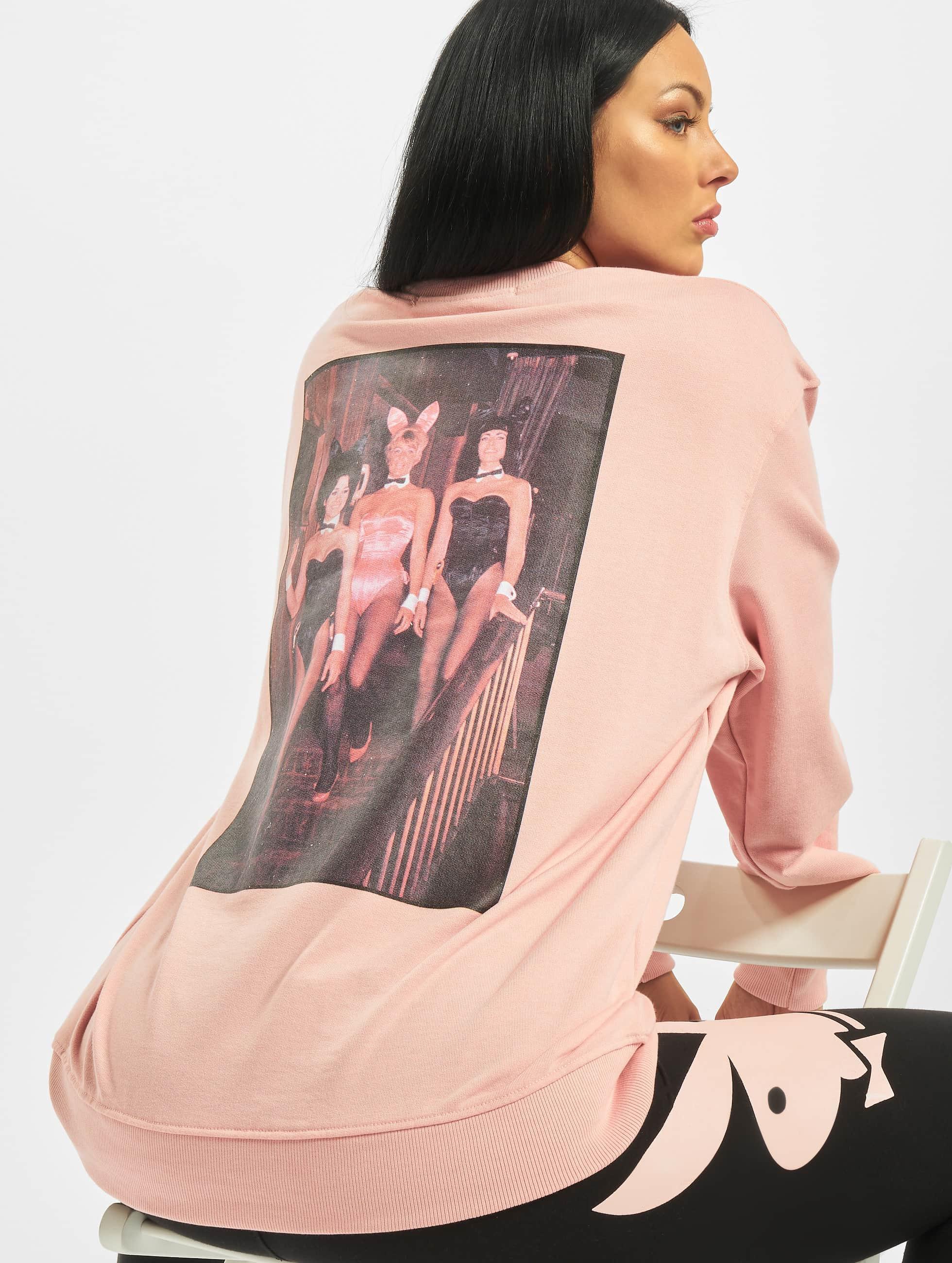 Missguided bovenstuk trui Playboy Mansion Magazine in rose