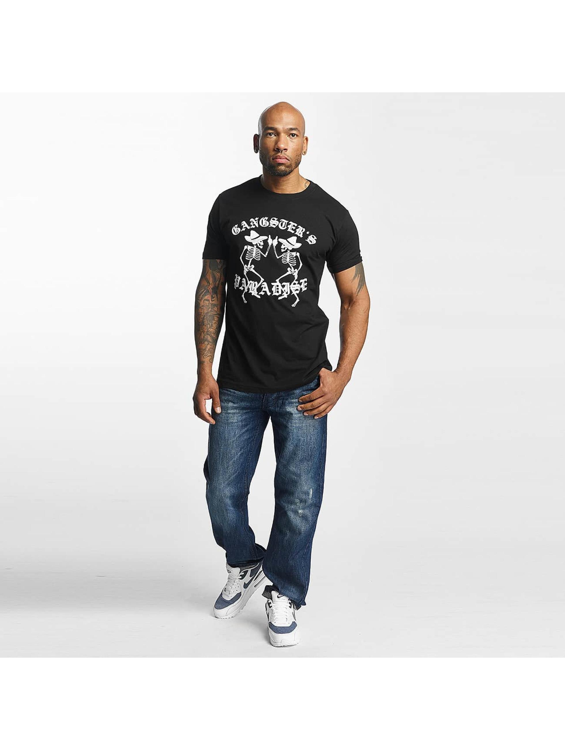Mister Tee Camiseta Gangster`s Paradise negro