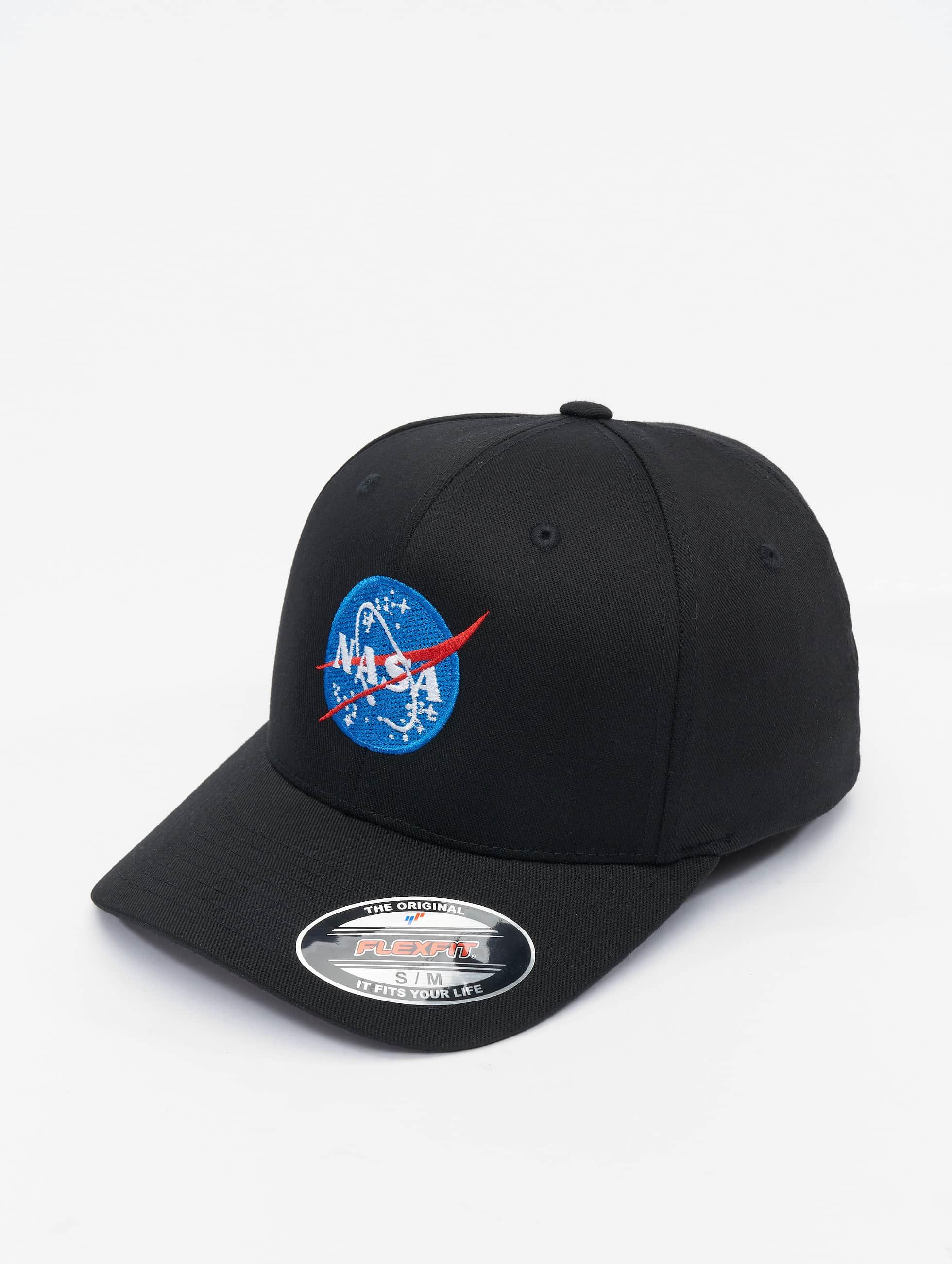 Mister Tee Casquette Flex Fitted NASA noir
