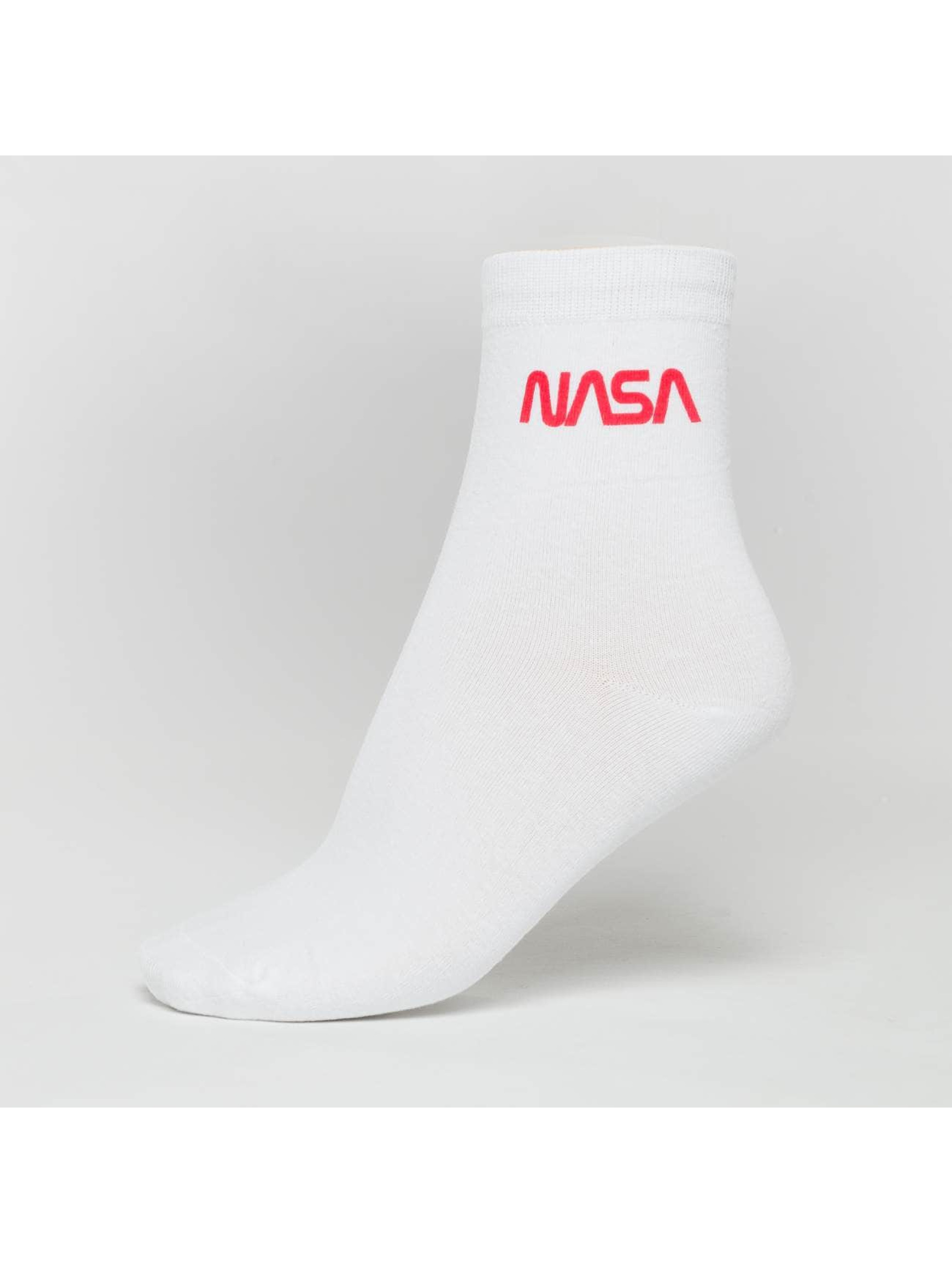 Mister Tee Chaussettes NASA Worm Logo blanc