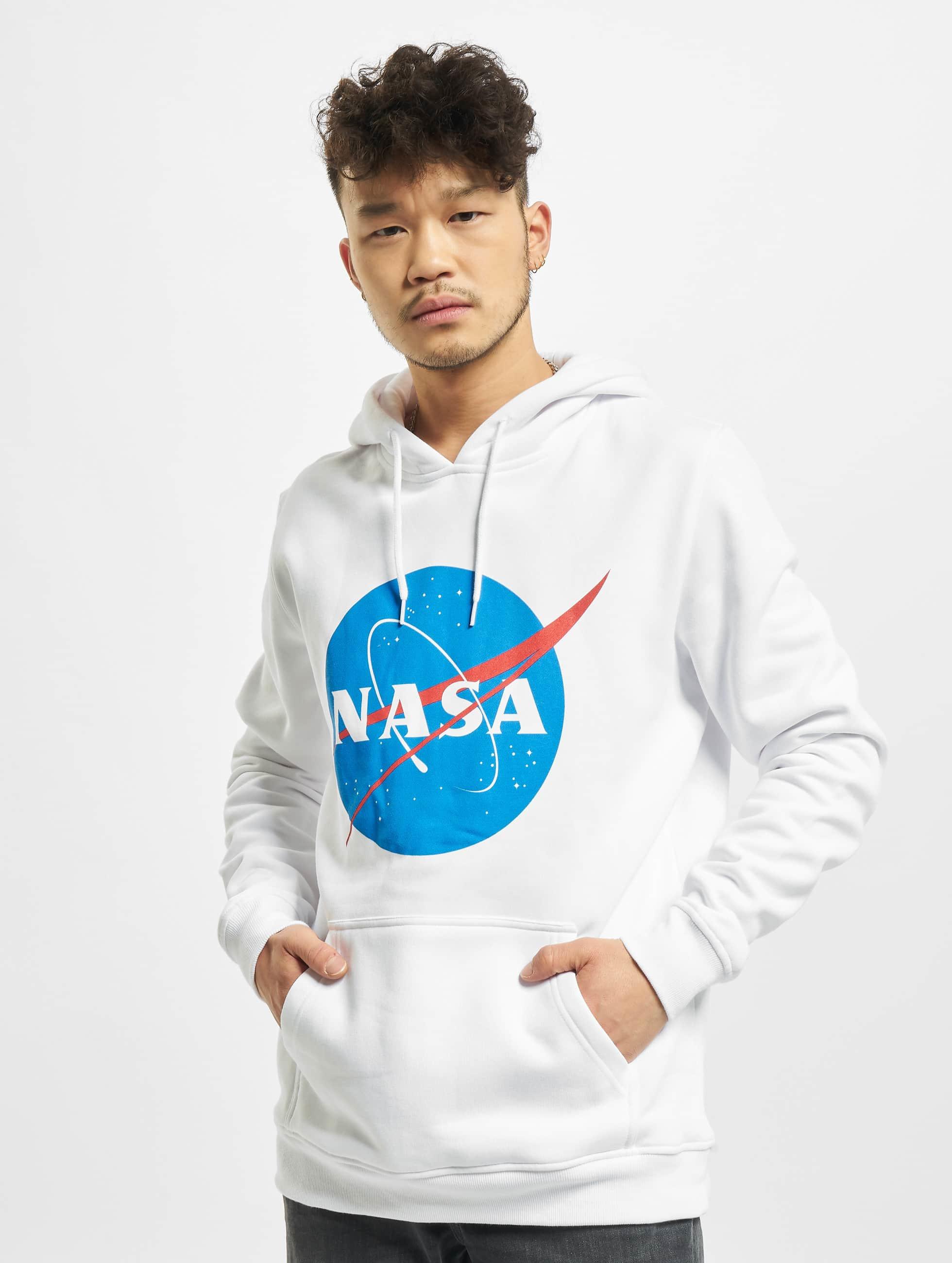 Mister Tee Felpa con cappuccio NASA bianco