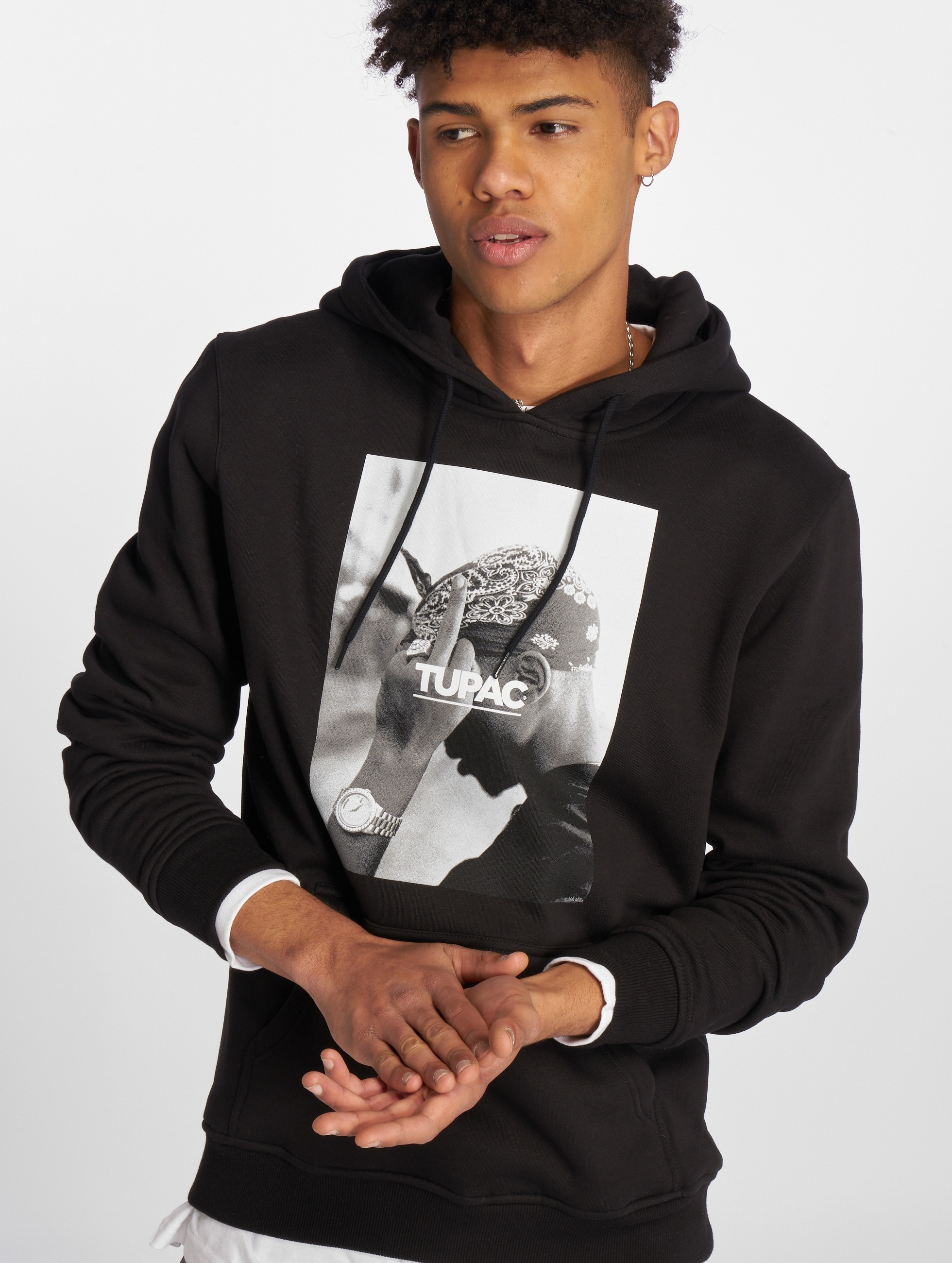 Mister Tee Hoodie 2Pac F*ck The World black