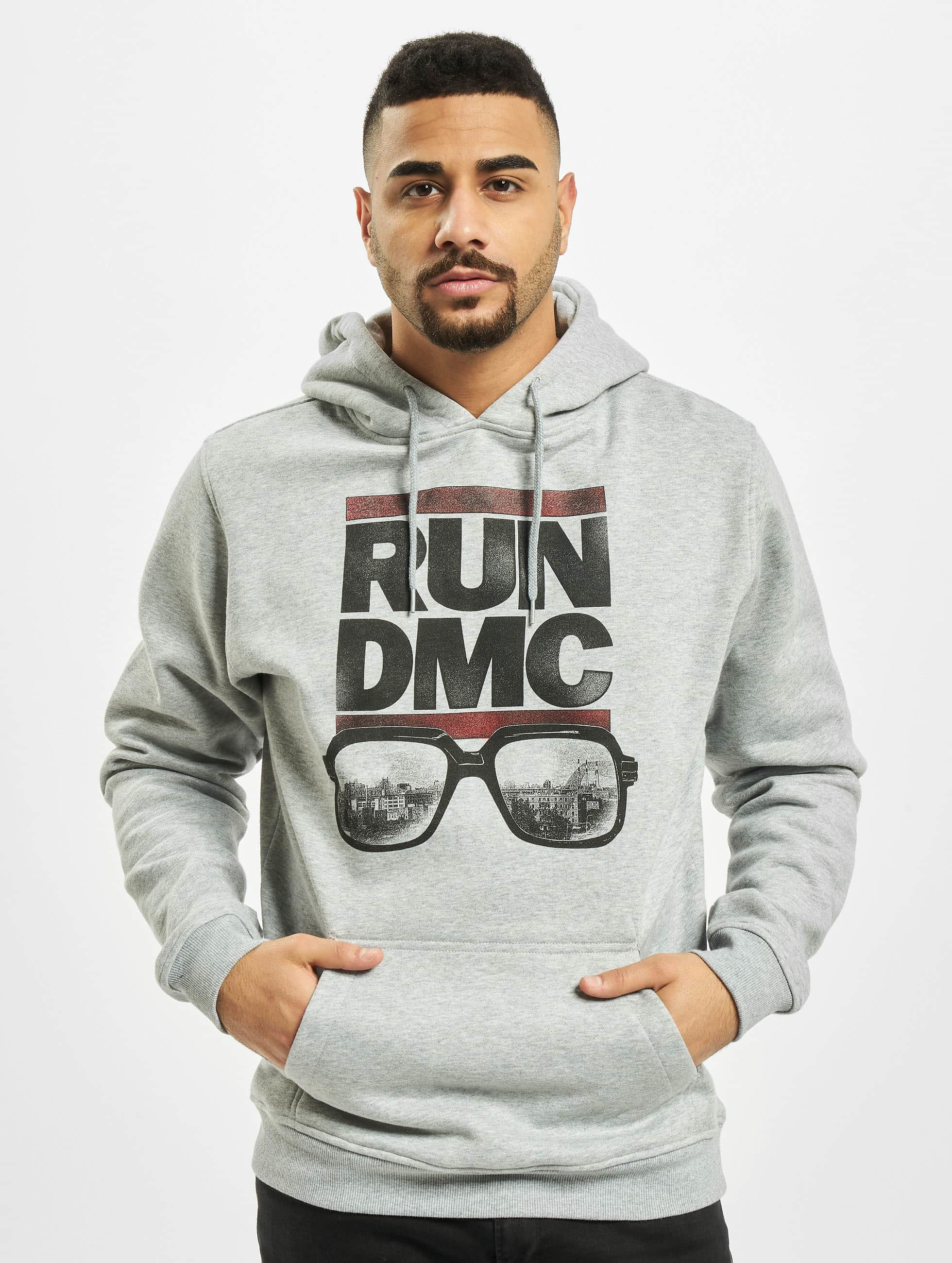 Mister Tee Hoodie Run DMC City Glasses gray