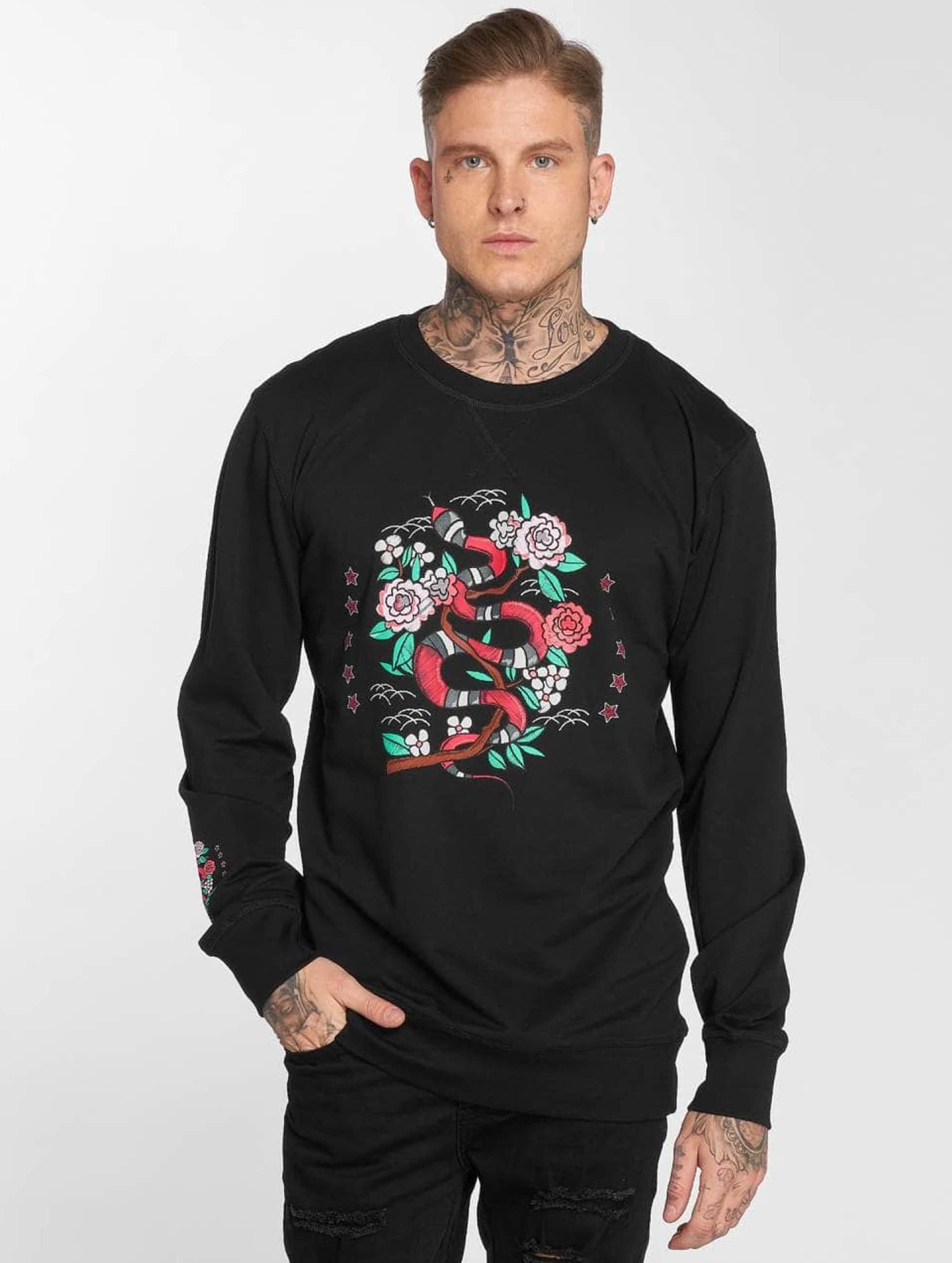 Mister Tee Maglia Snake Flowers nero