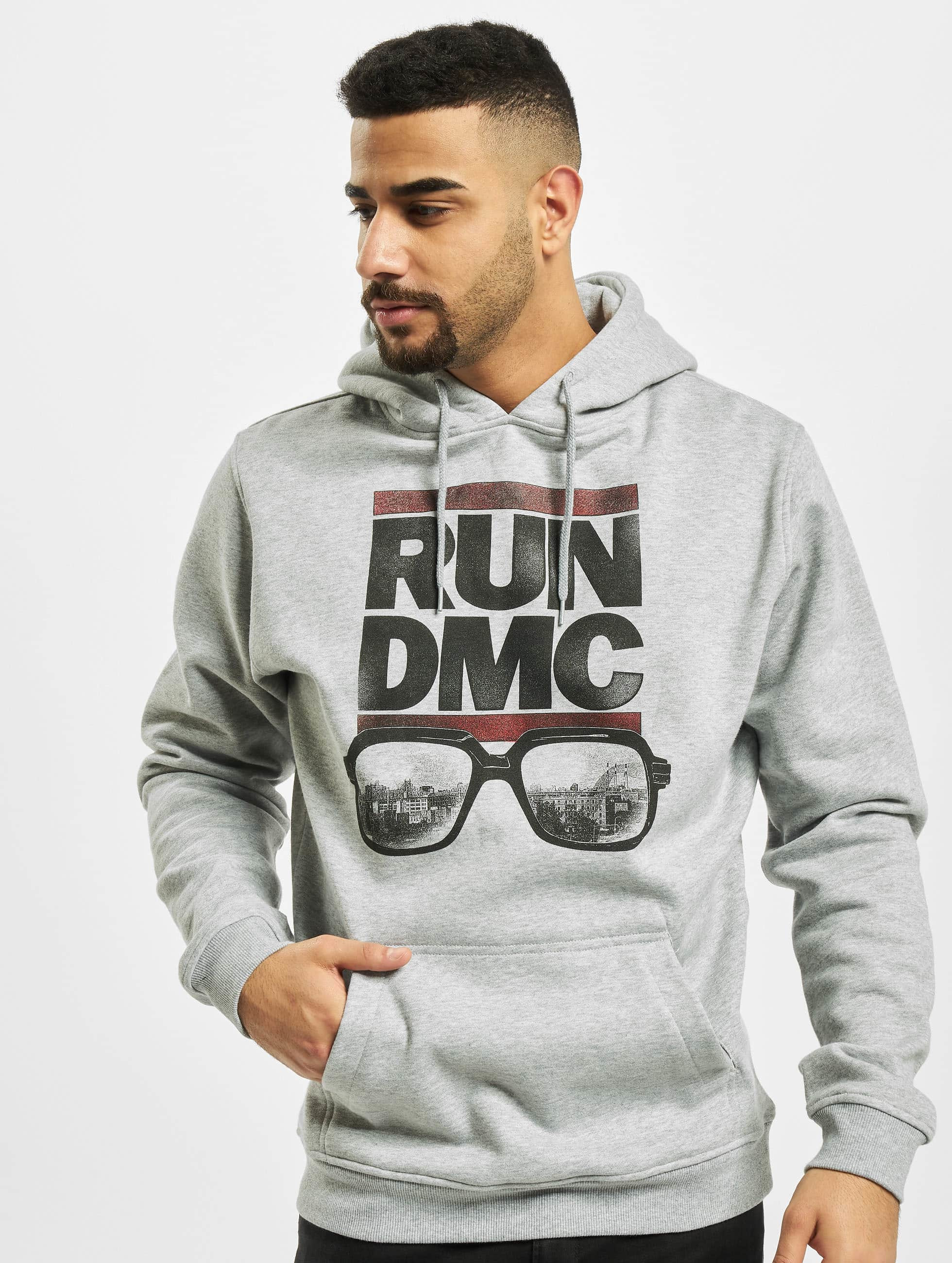 Mister Tee Mikiny Run DMC City Glasses šedá