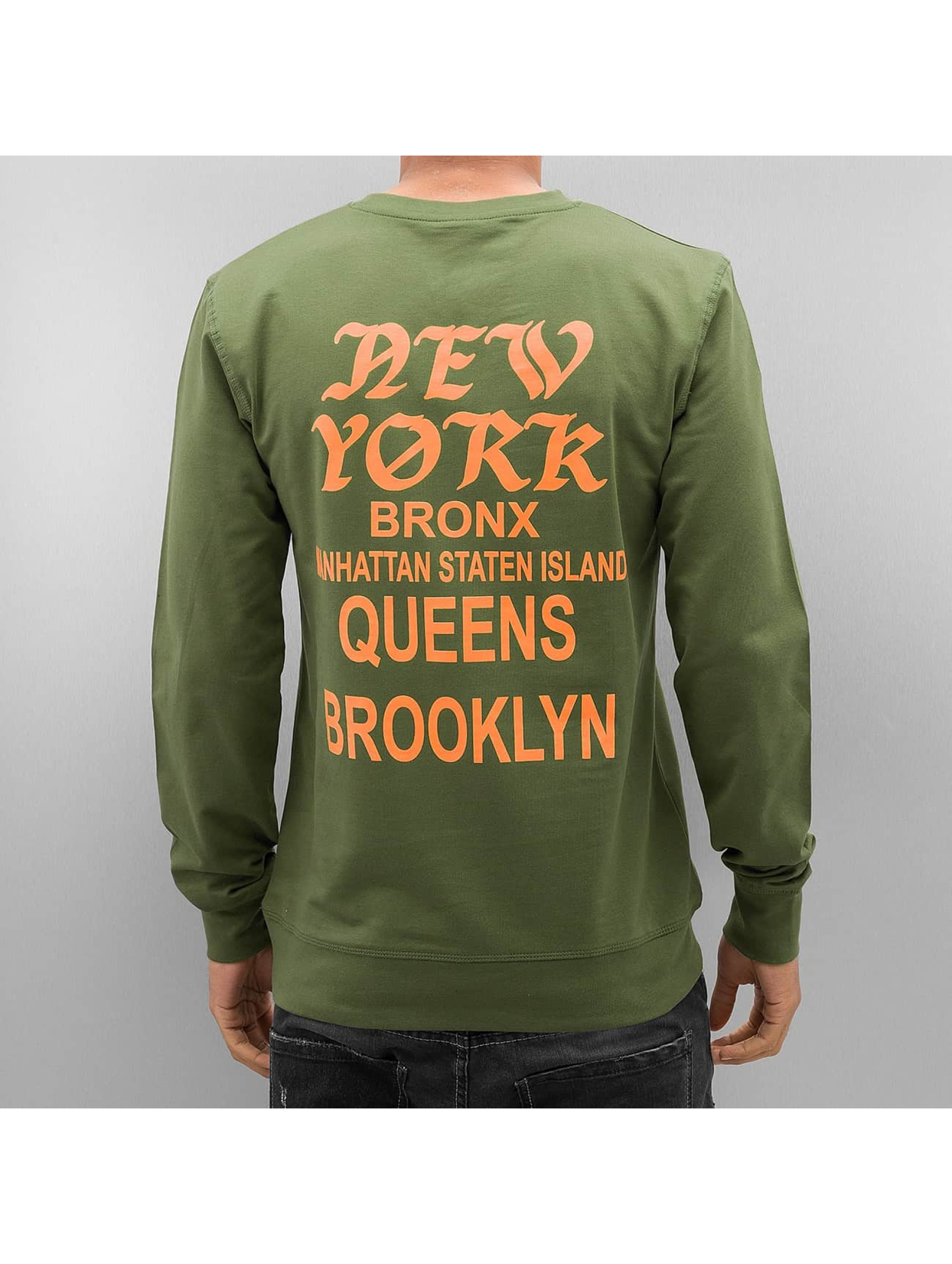 Mister Tee Pullover NY olive
