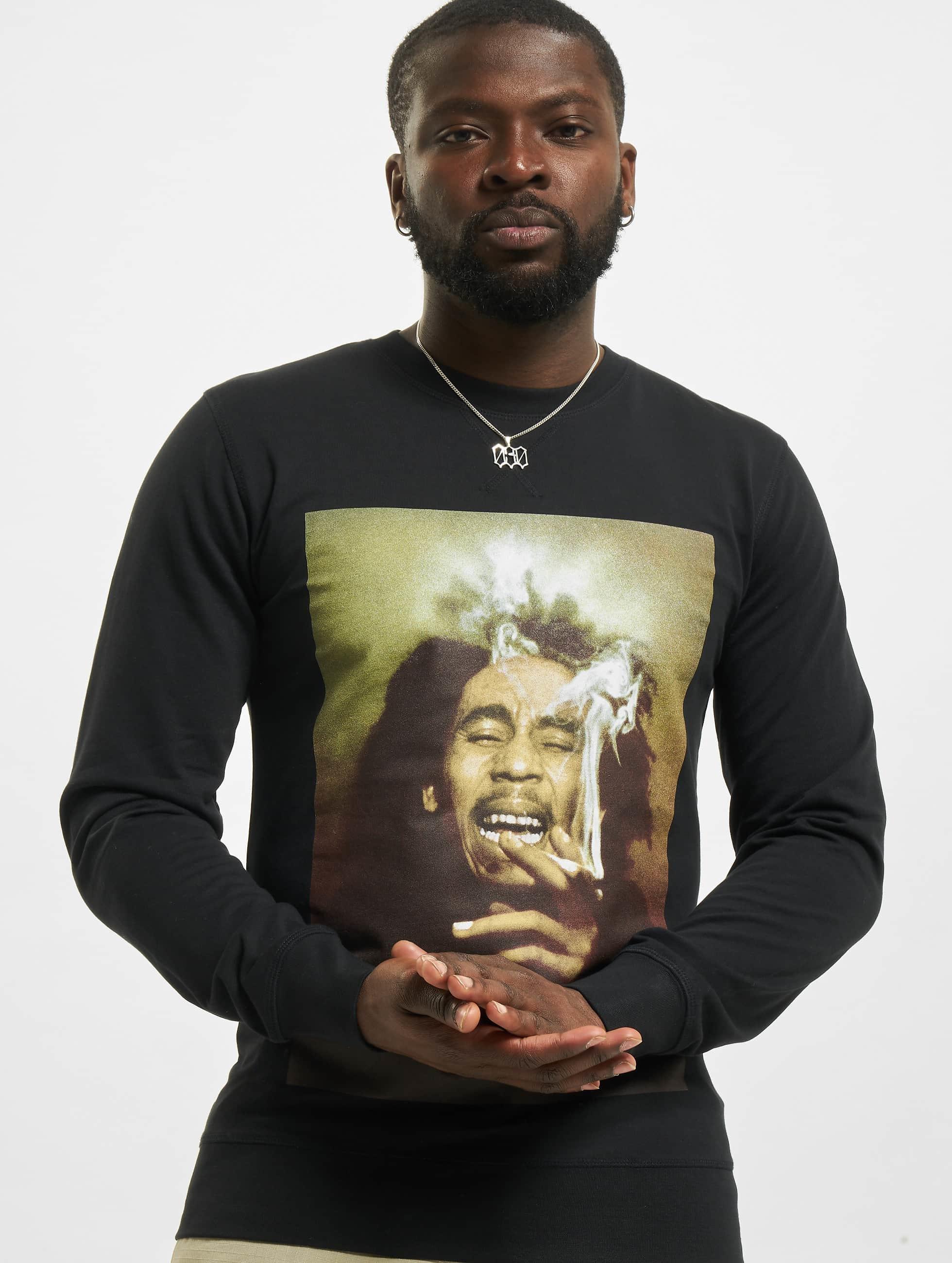 Mister Tee Pulóvre Bob Marley Smoke èierna